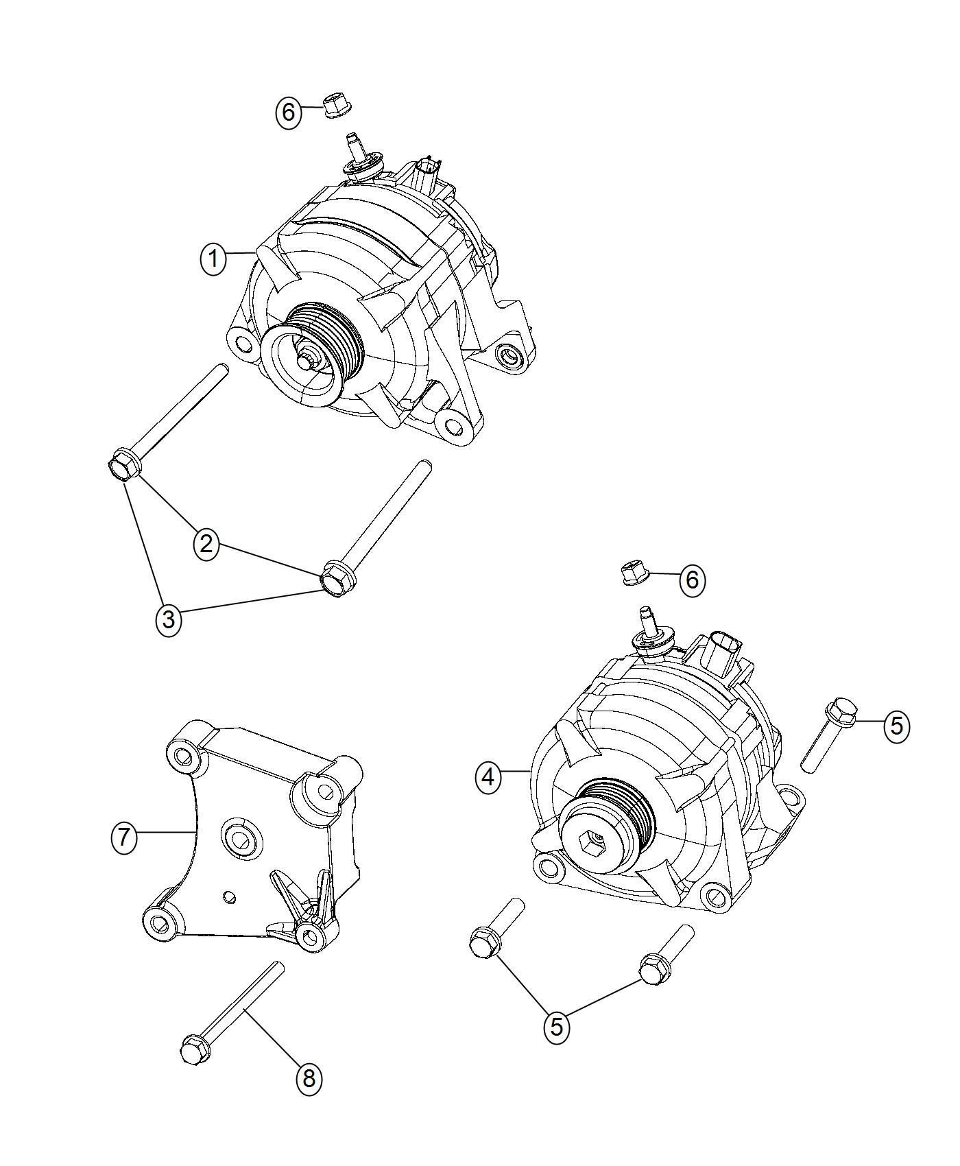 Dodge Ram Generator Engine 180 Amp Alternator