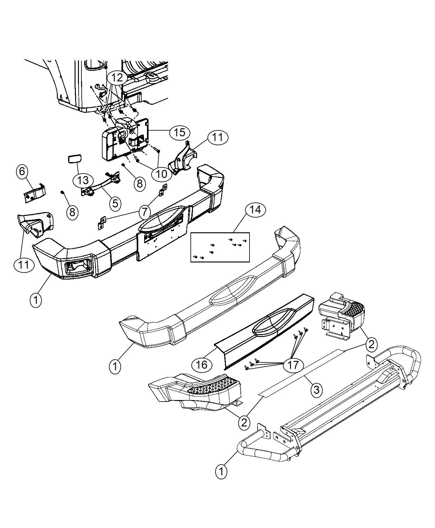 Jeep Wrangler Step Pad Rear Bumper Mopar Hd Rear