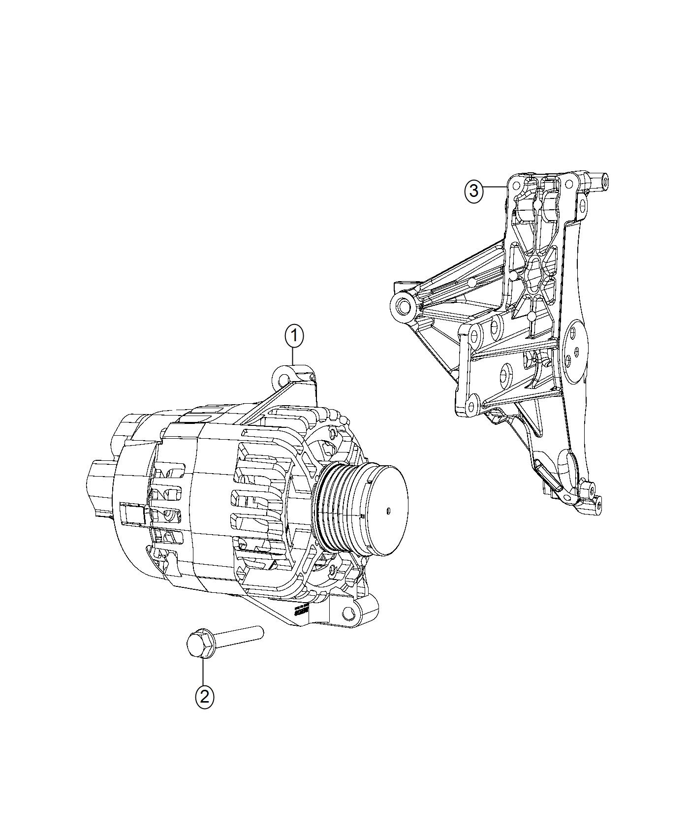 Jeep Renegade Generator Engine Export Alternator