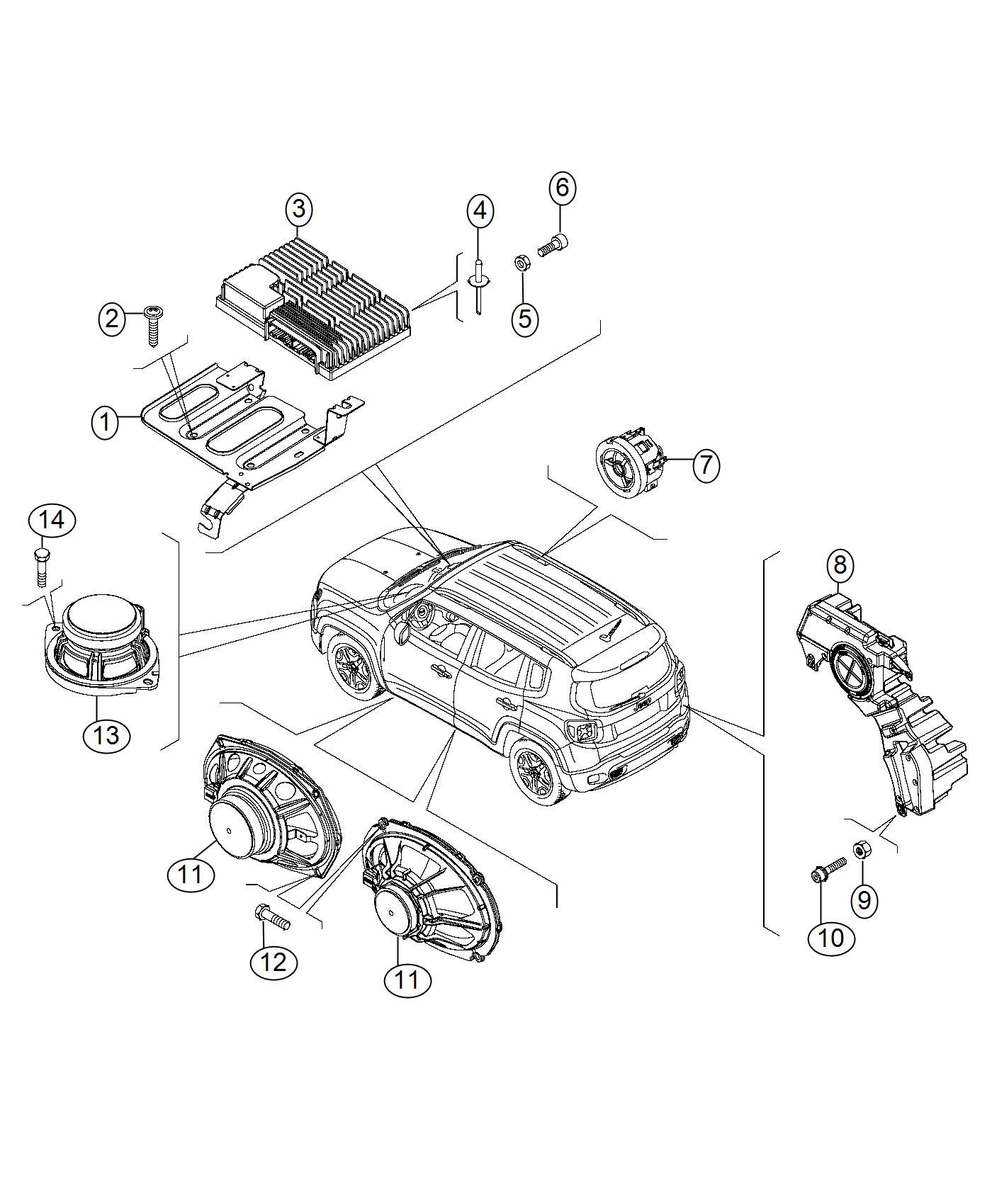 Jeep Renegade Speaker 6x9 Export Us Canada
