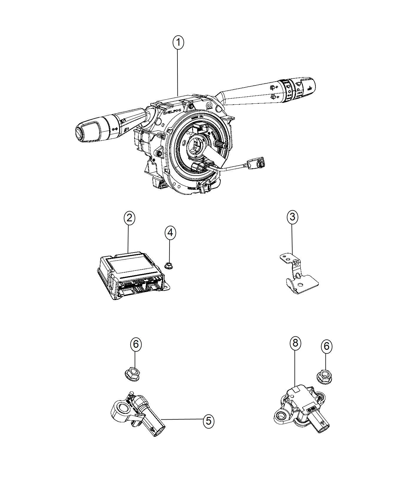 Jeep Renegade Clip Sensor Export Collision Speed Warn