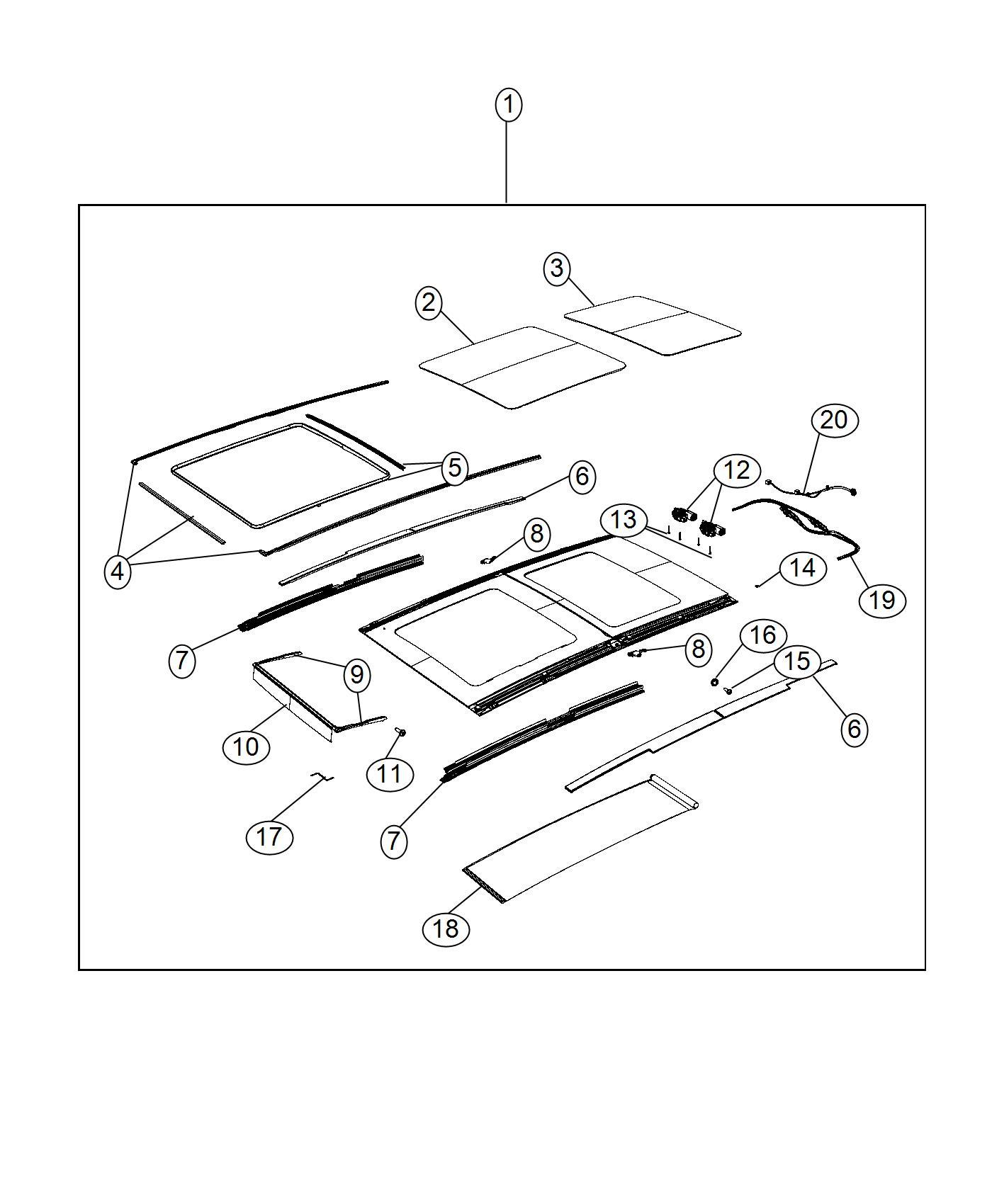 Jeep Renegade Glass Sunroof Rear Glass Canada