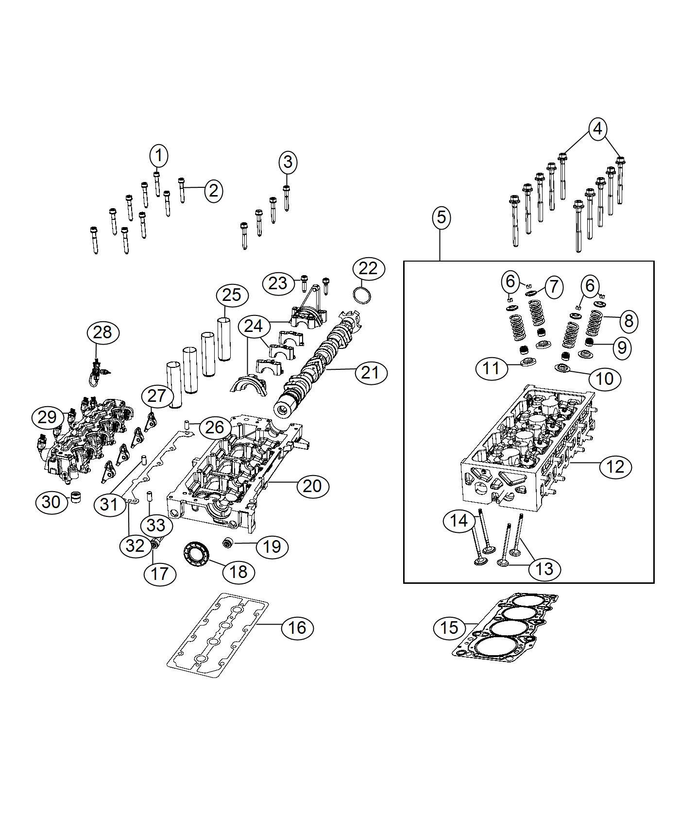 Jeep Renegade Retainer Seat Valve Spring Exhaust