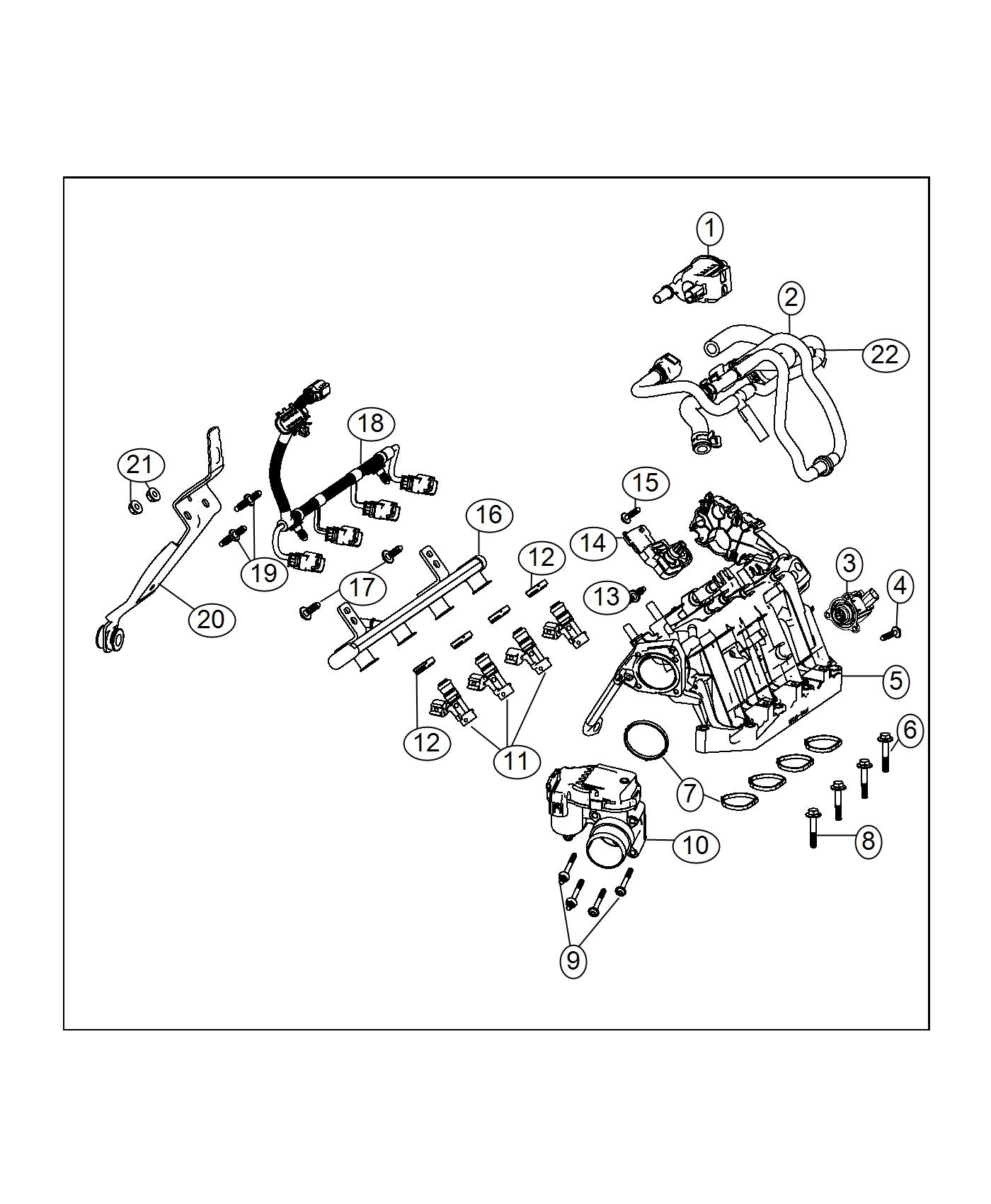 Jeep Renegade Gasket Kit Intake Manifold Export 6