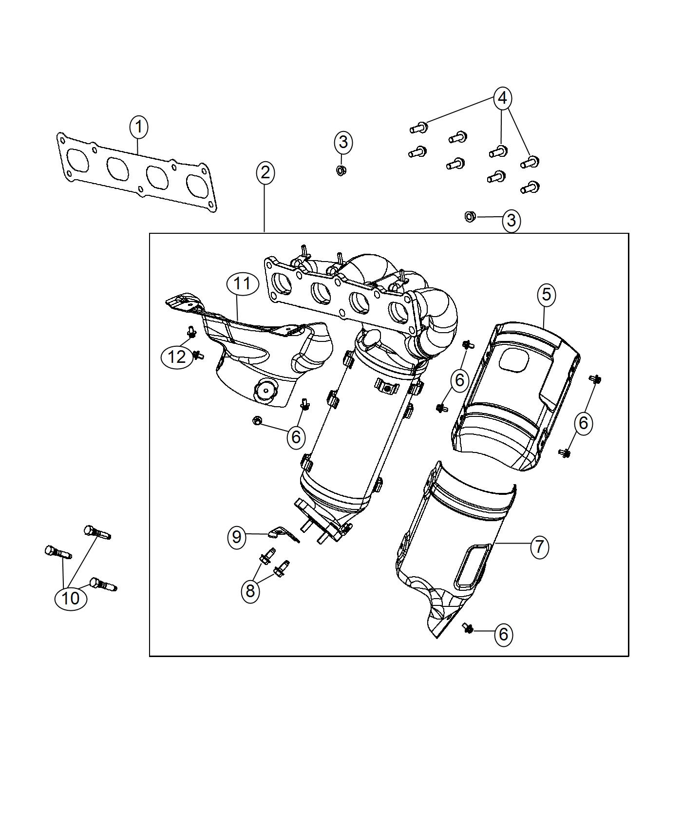 Jeep Renegade Gasket Exhaust Manifold Brazil