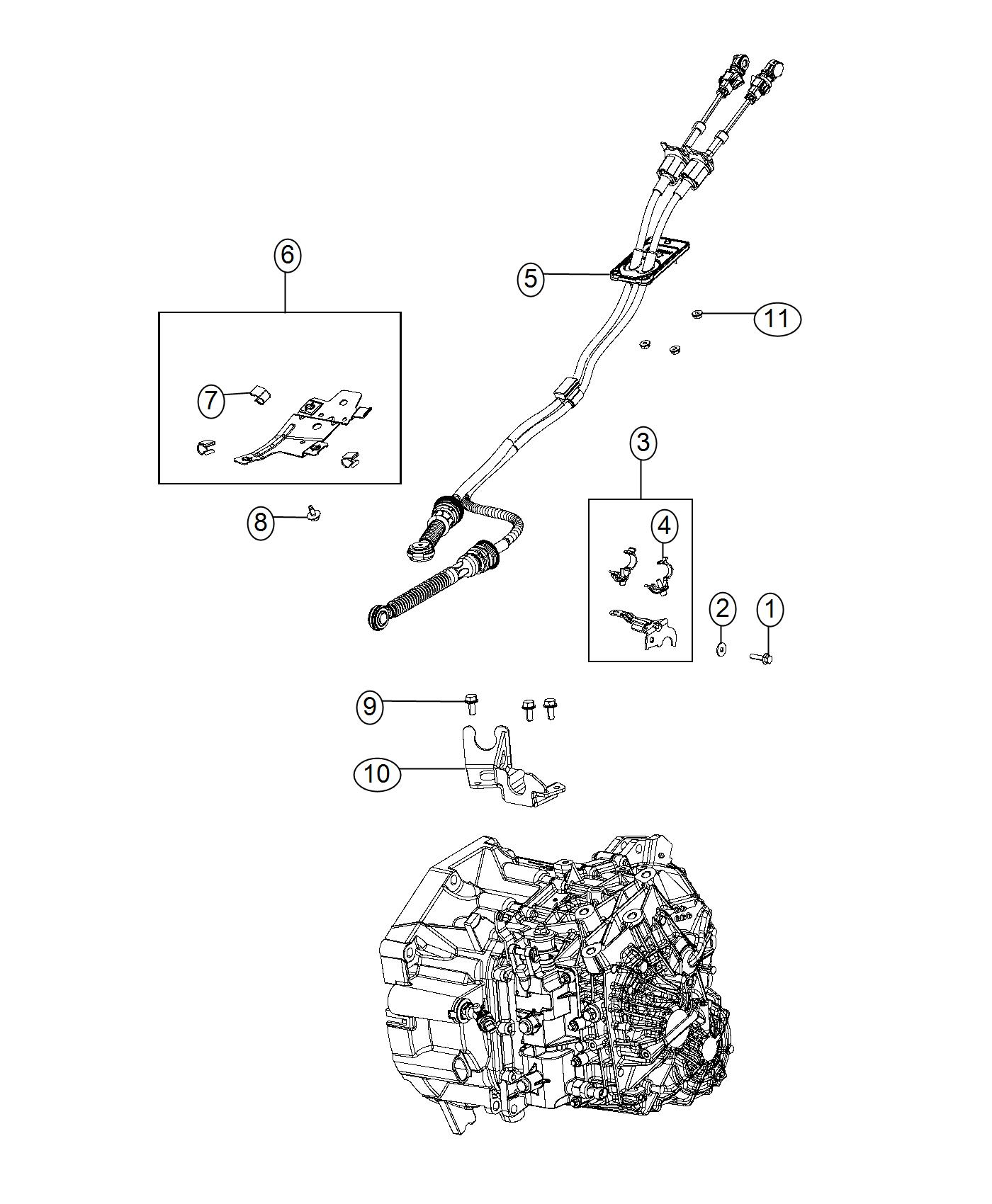 Jeep Renegade Bracket Shift Cable 2 8 Overall Top Gear Ratio 3 833 Final Drive