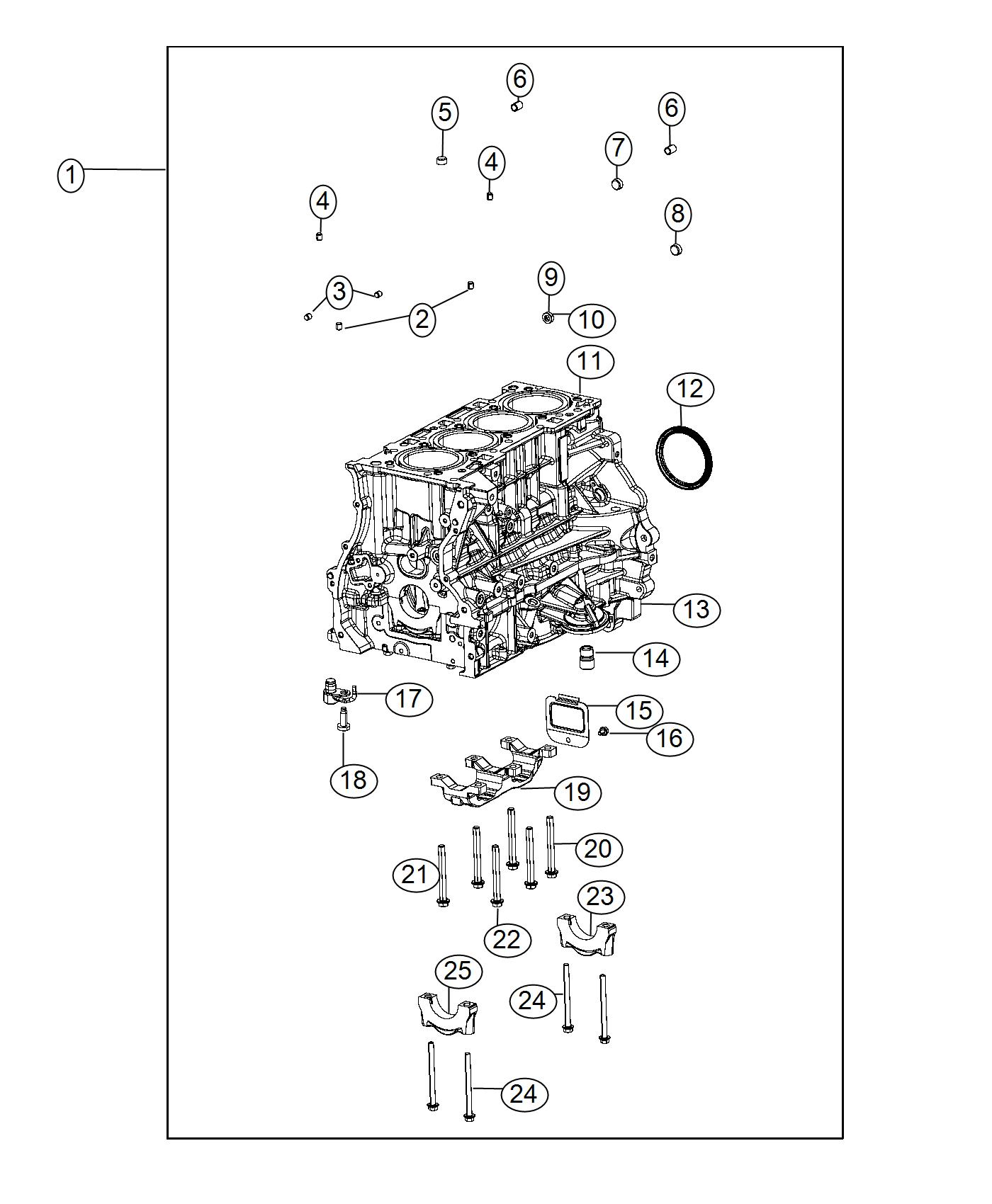 Chrysler 200 Engine Short Block Fuel Flex Train