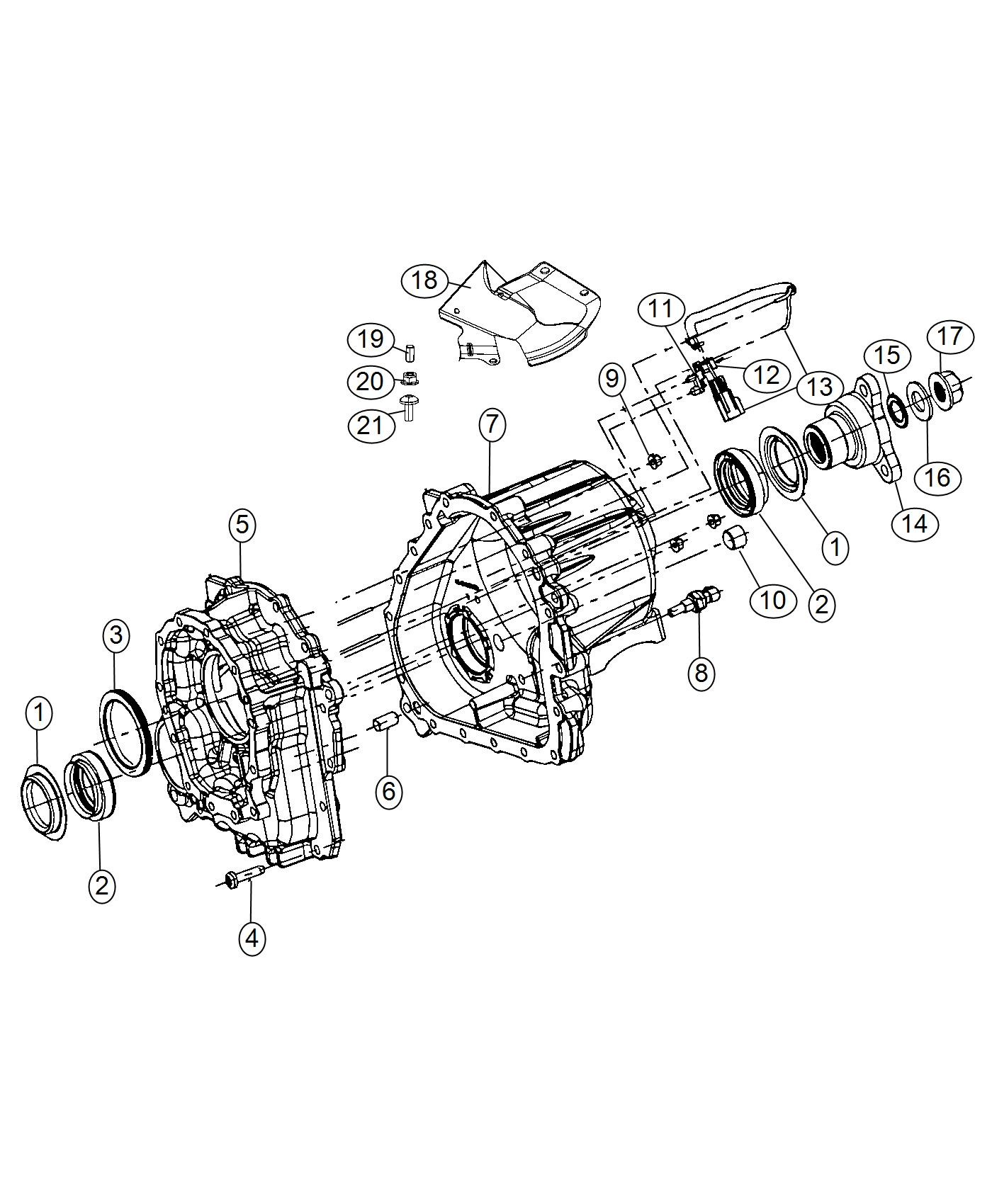 Dodge Challenger Flange Driveshaft Yoke Case Engine
