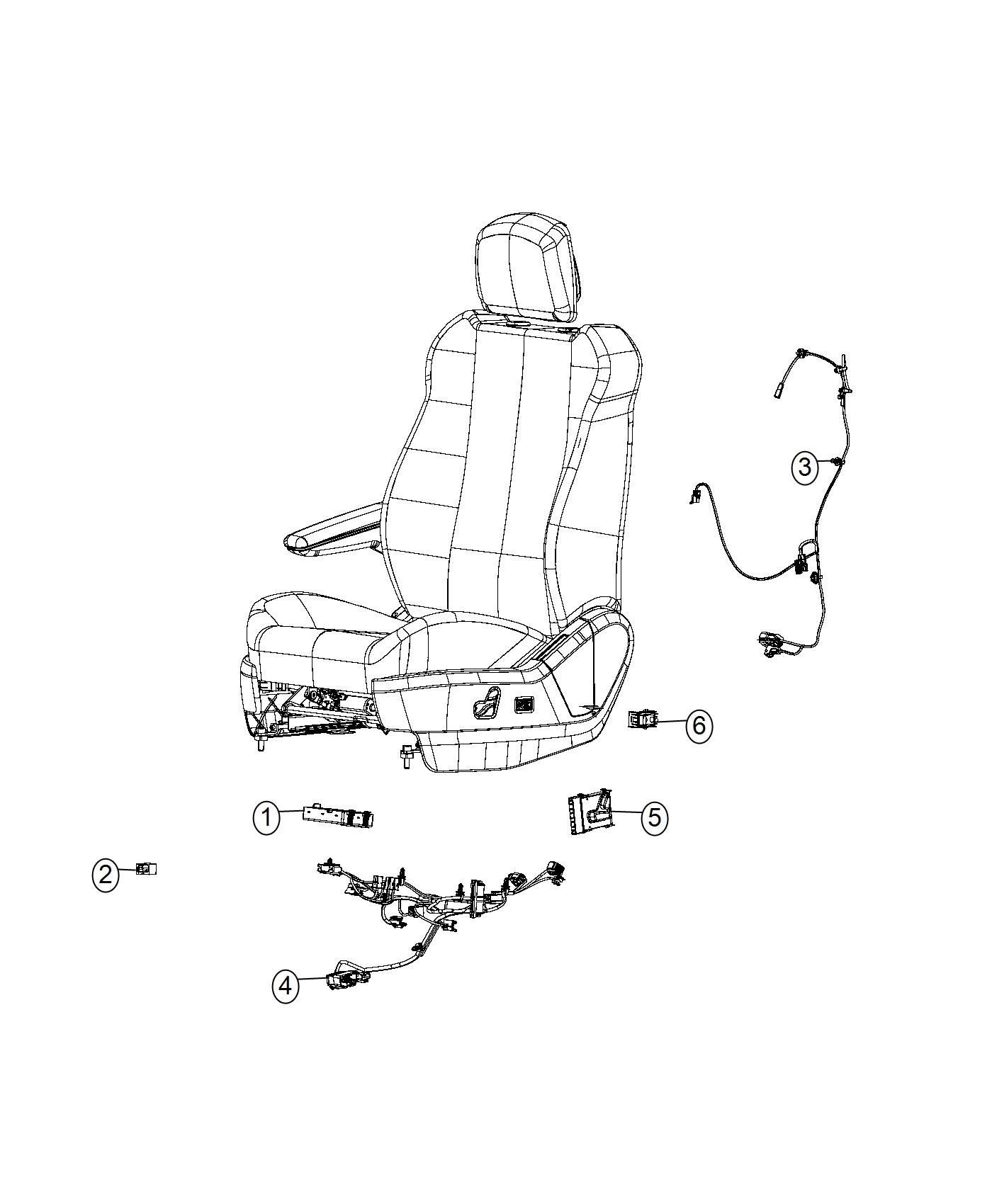 Chrysler Town Amp Country Switch Power Seat Driver Export
