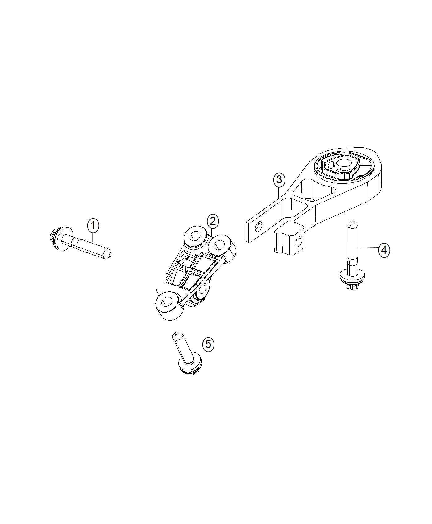 Jeep Renegade Engine Mount Isolator Rear Torque Strut