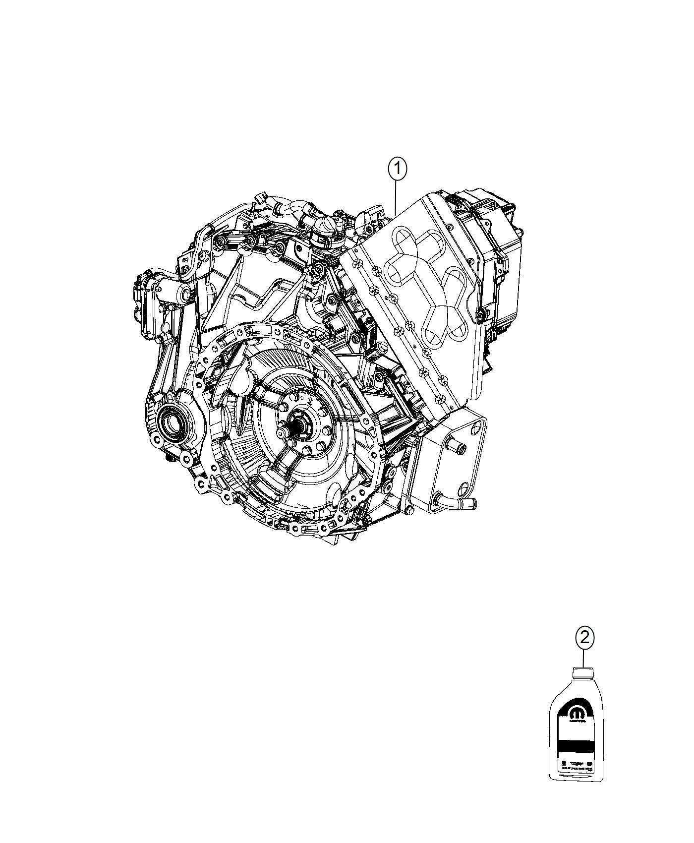 Chrysler Pacifica Transaxle Transmission Without Pim