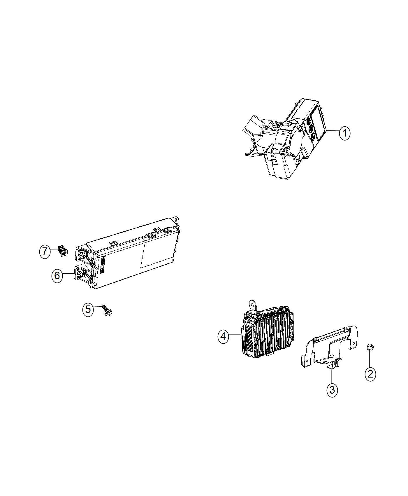 Jeep Renegade Module Telematics Instrument Panel Parts