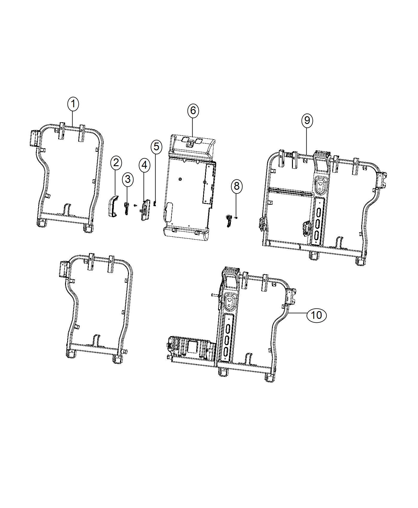 Jeep Renegade Bracket Rear Seat Export Trim Lux