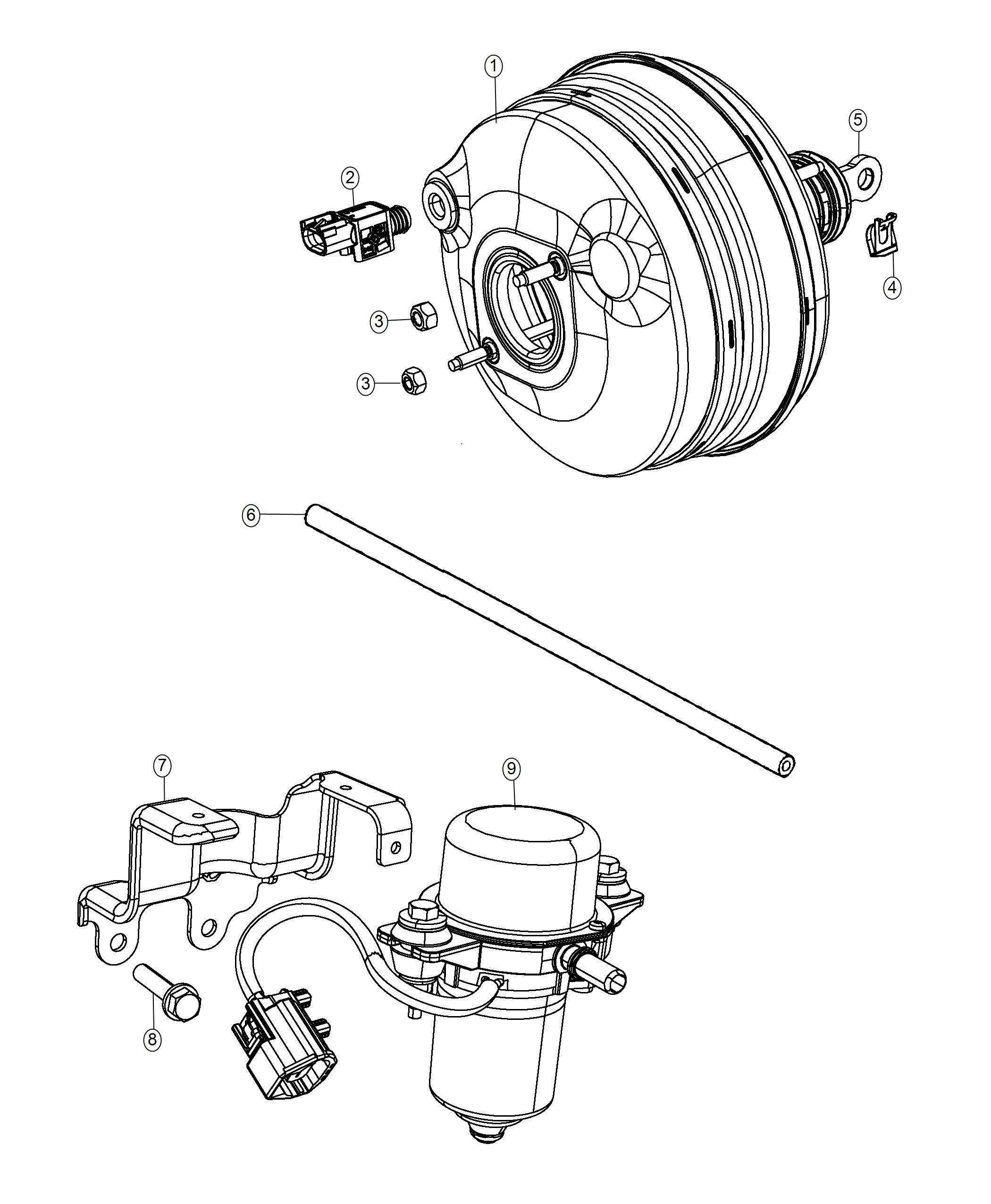 Dodge Challenger Hose Brake Booster Vacuum Booster To