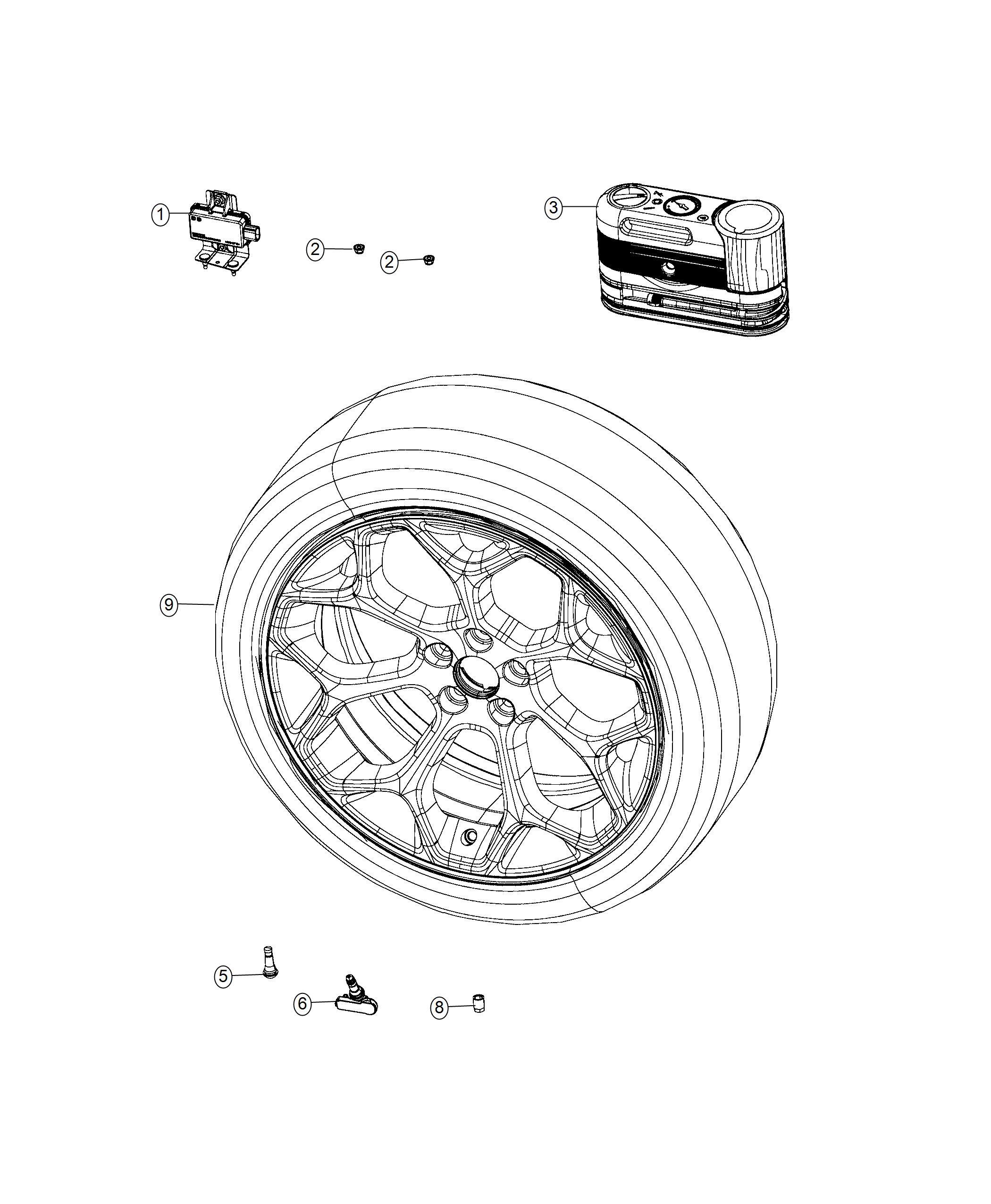 Chrysler 300 Module Tire Pressure Monitoring