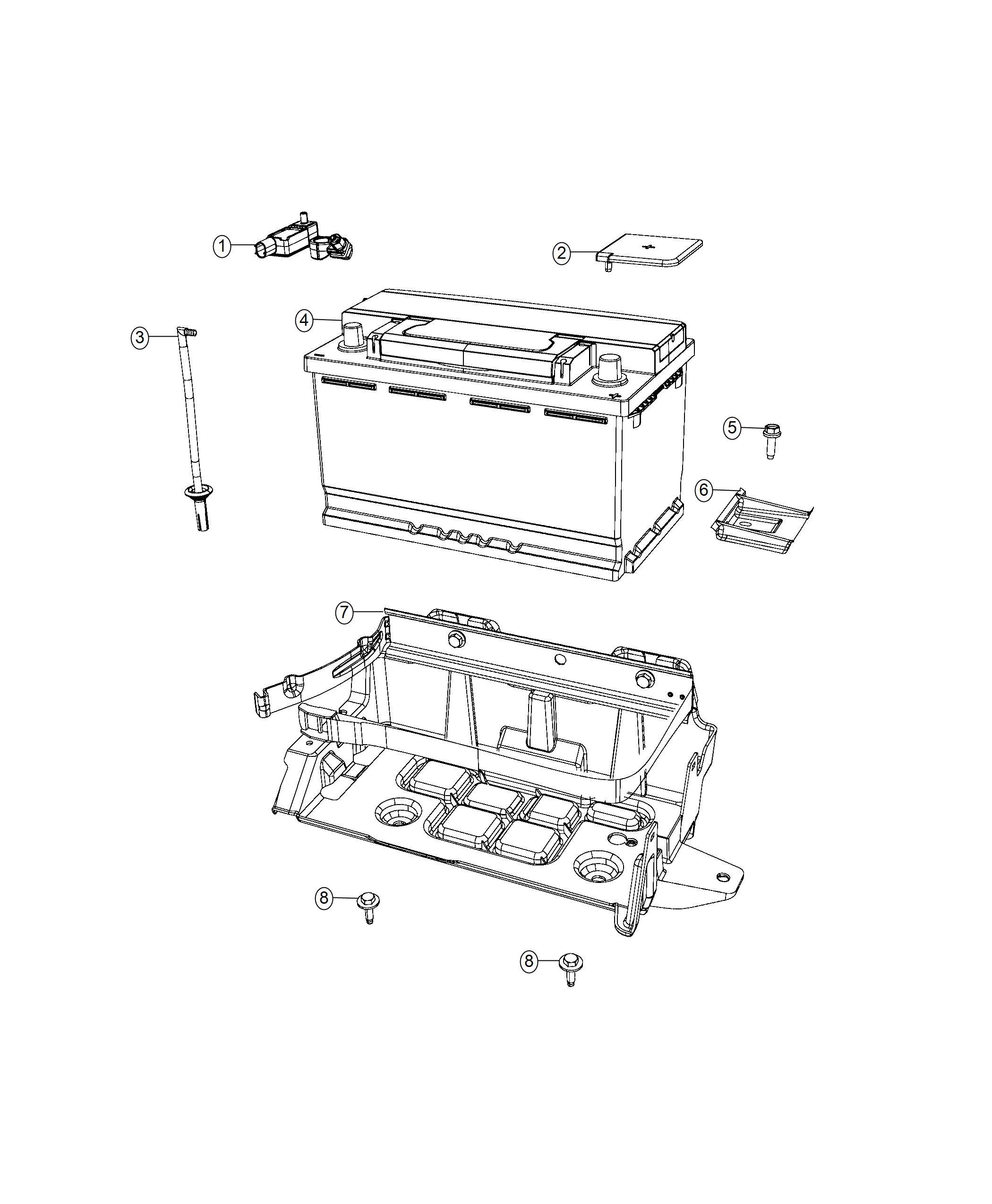 Chrysler 300 Sensor Battery Stop Start Multiple Vsm
