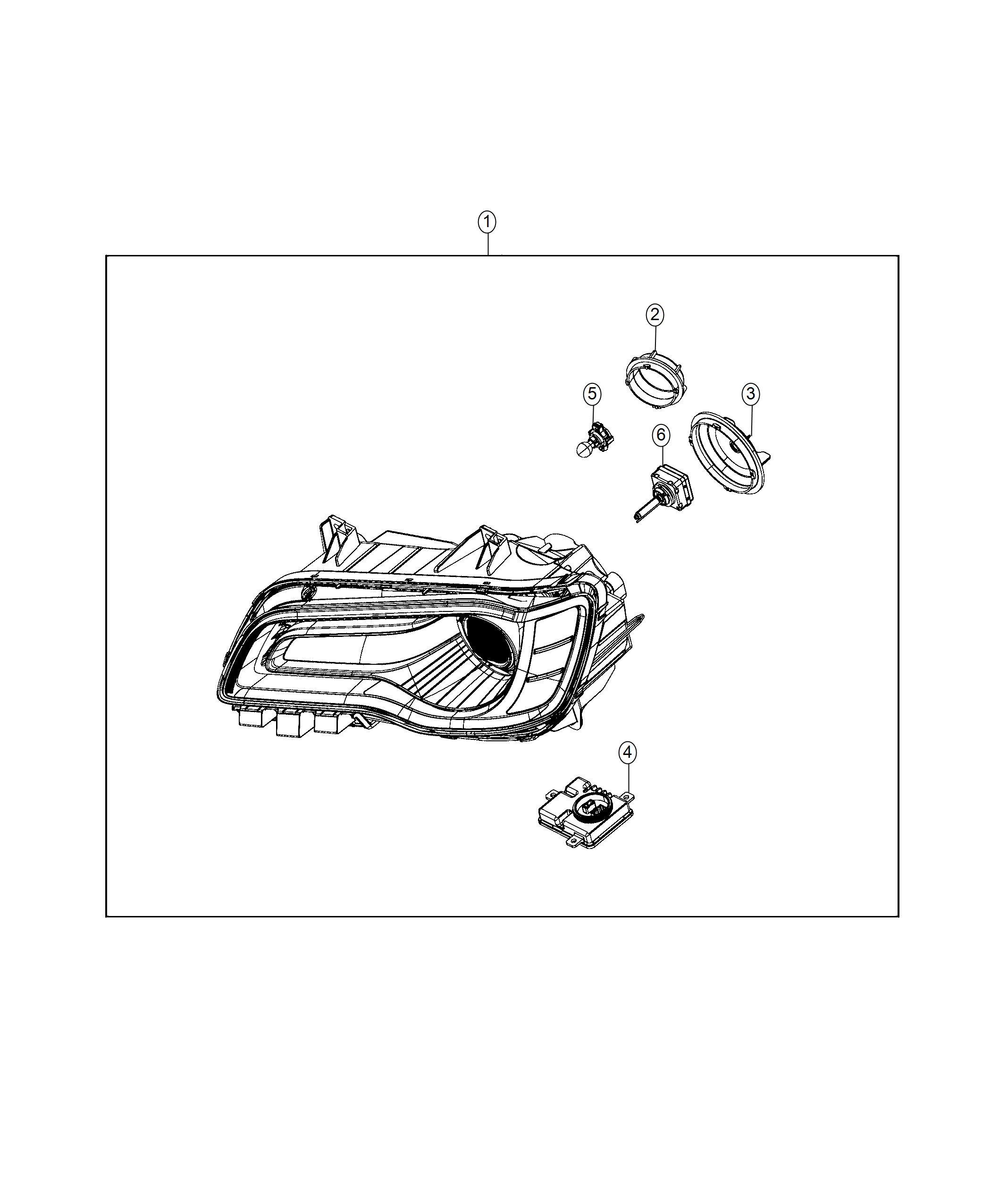 Chrysler 300 Headlamp Right Headlamps Hid Adaptive