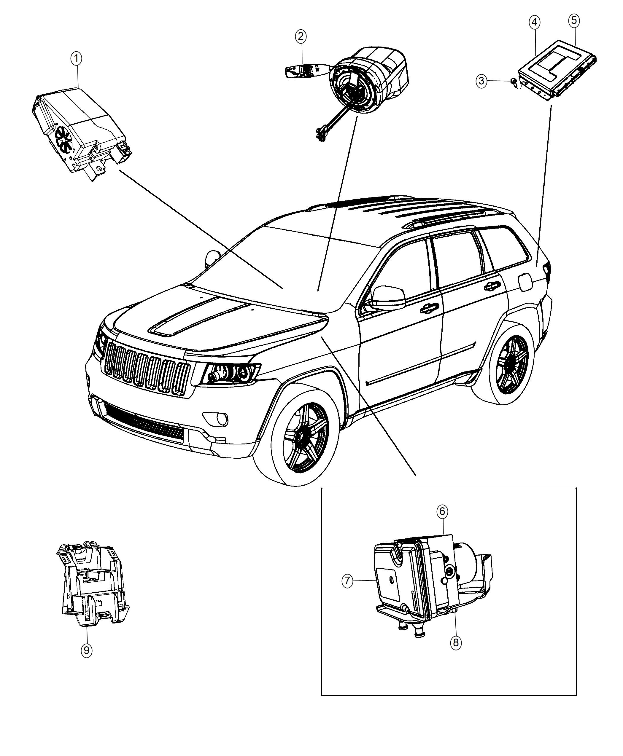 Jeep Grand Cherokee Module Active Dampening Adaptive