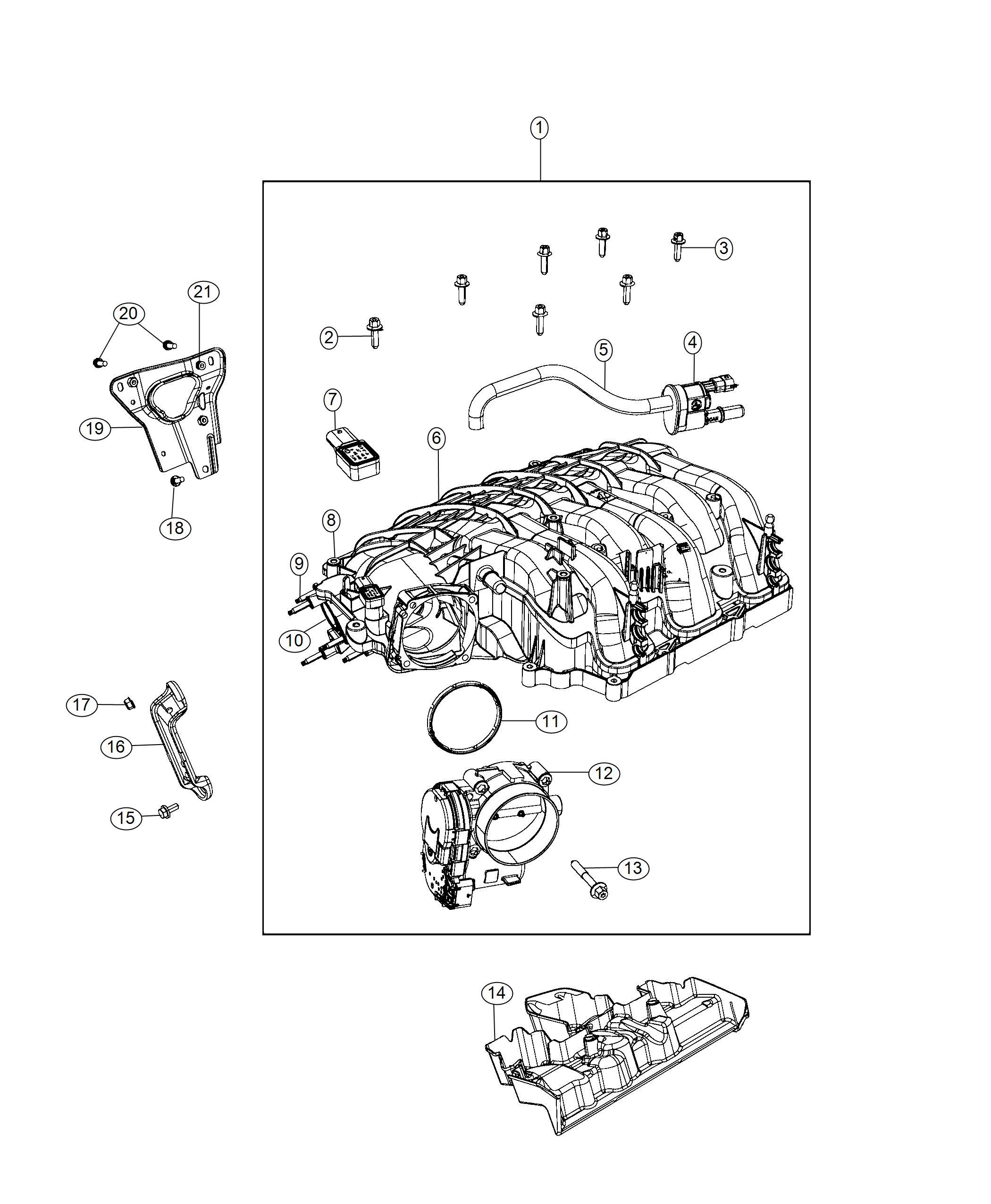 Jeep Grand Cherokee Plenum Intake Manifold