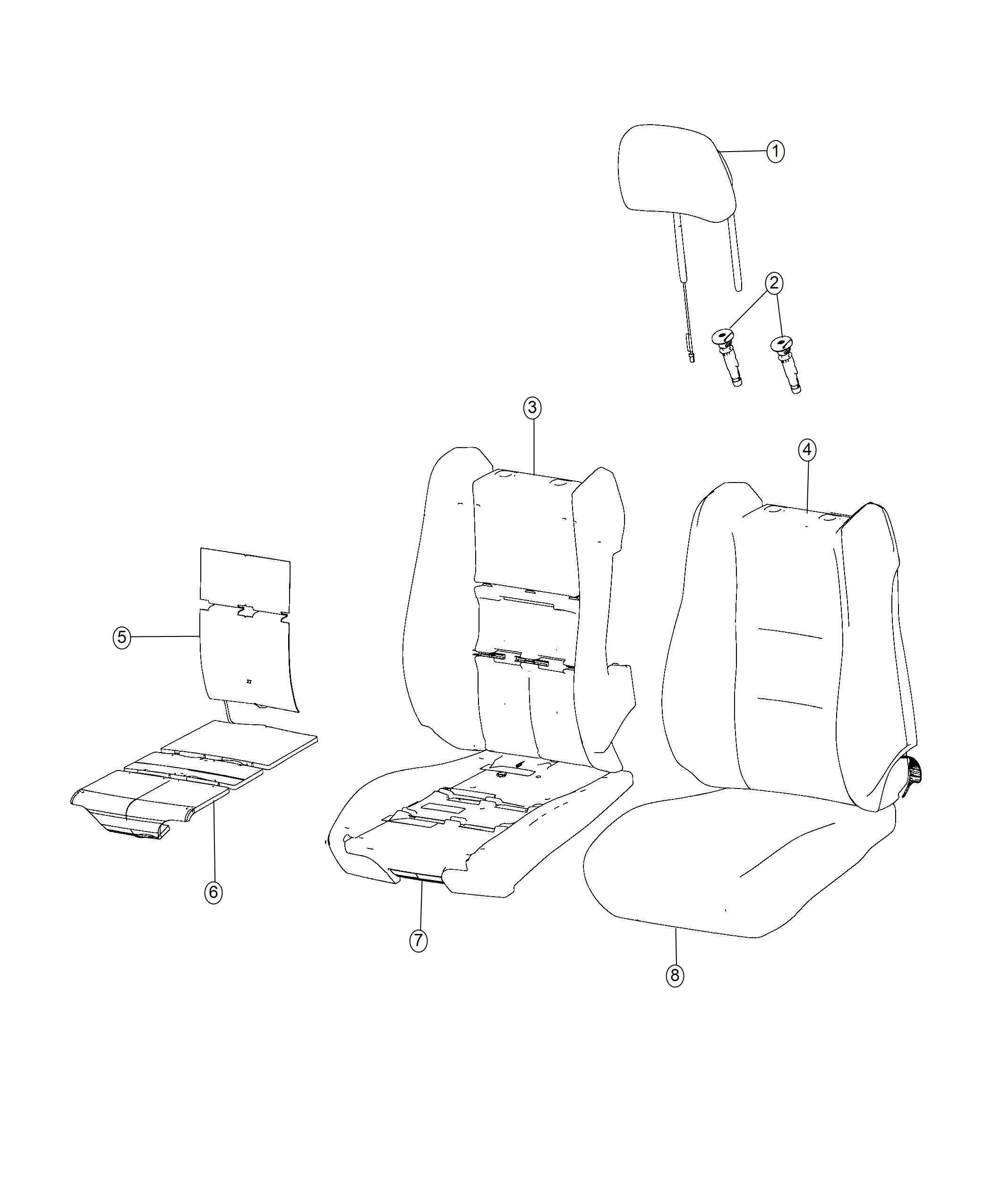Jeep Grand Cherokee Cover Front Seat Back Left Black