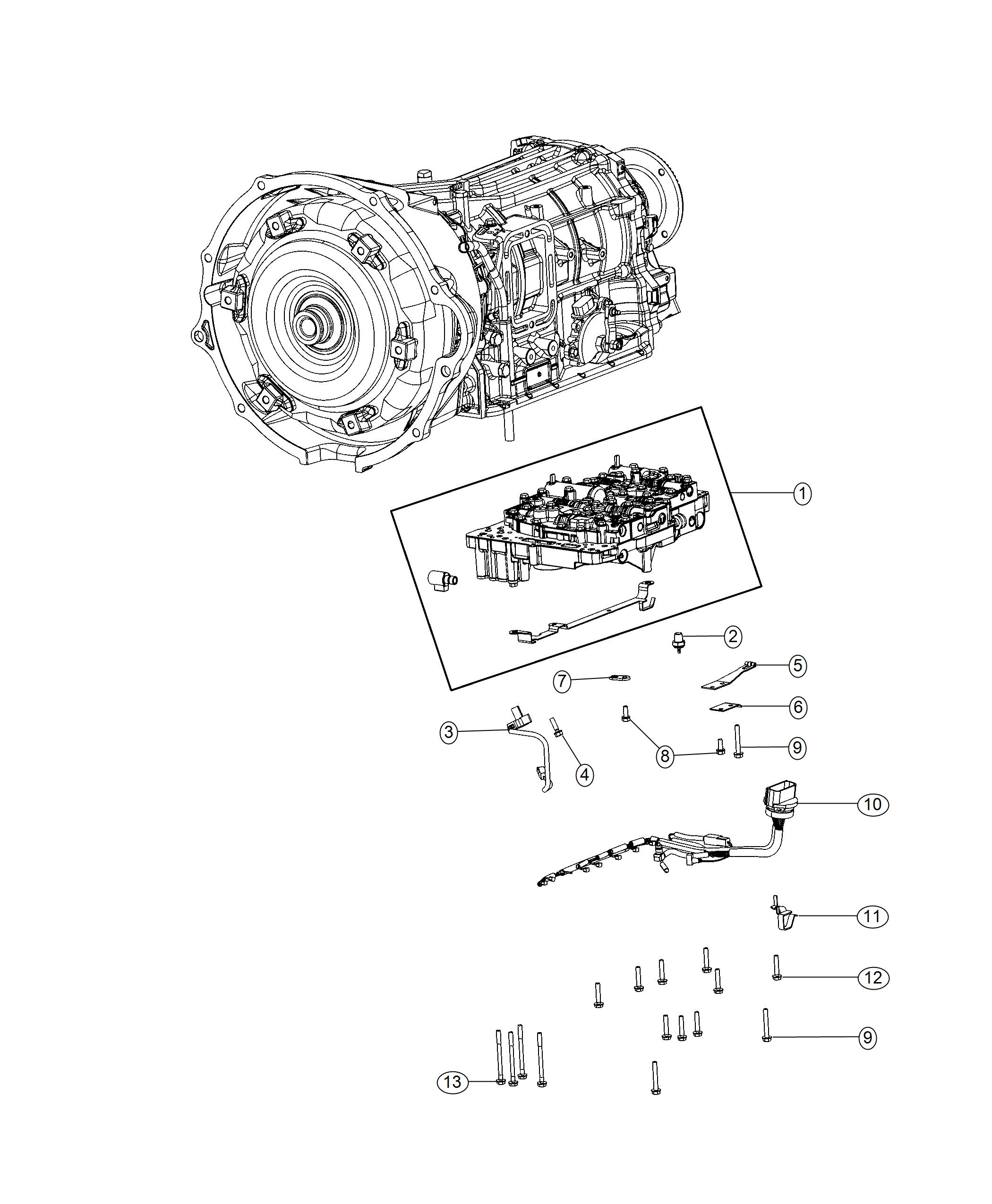 Dodge Ram Valve Body Assembly Side Take Left