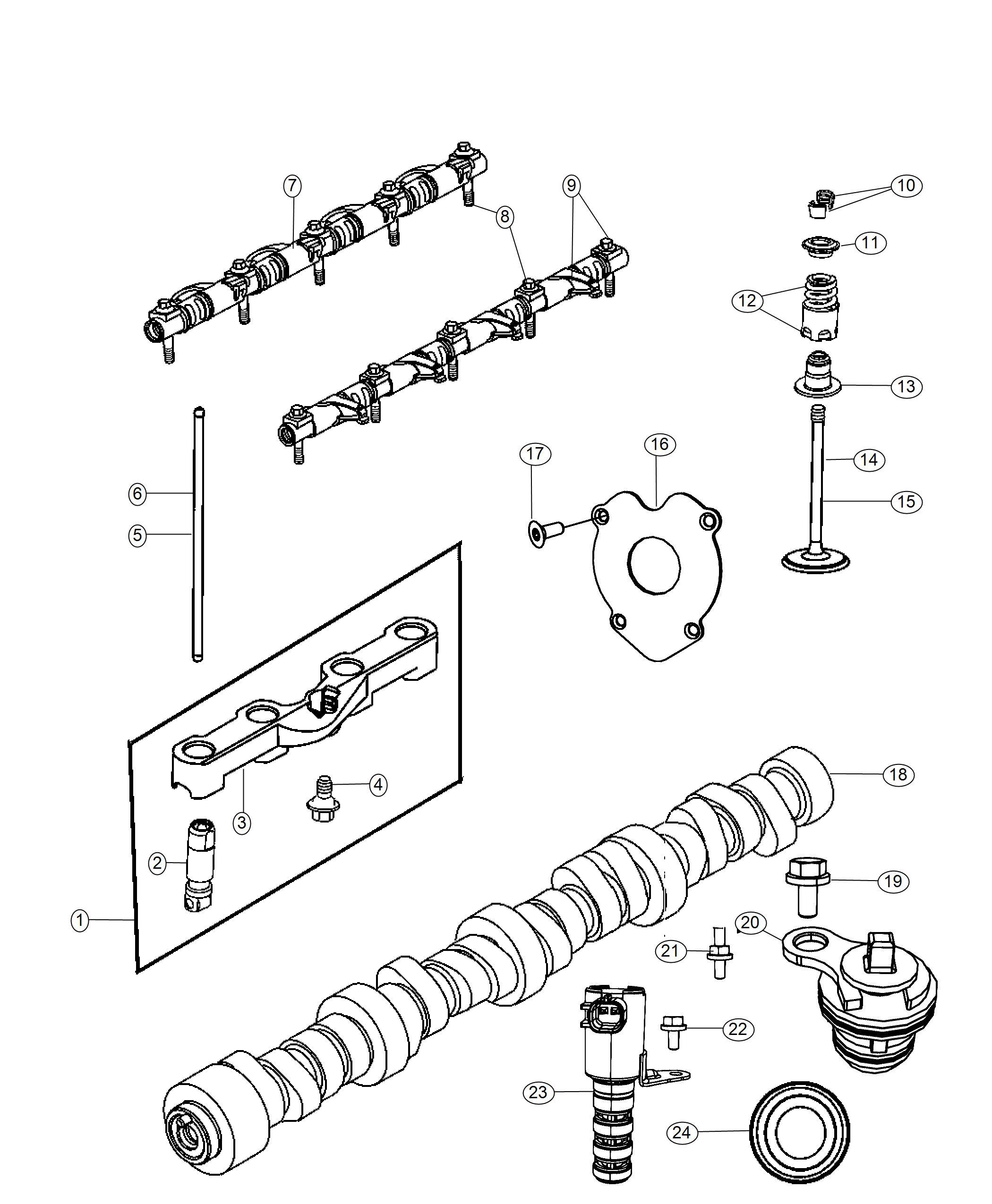 Ram Camshaft Engine Valvetrain Ezc Cng