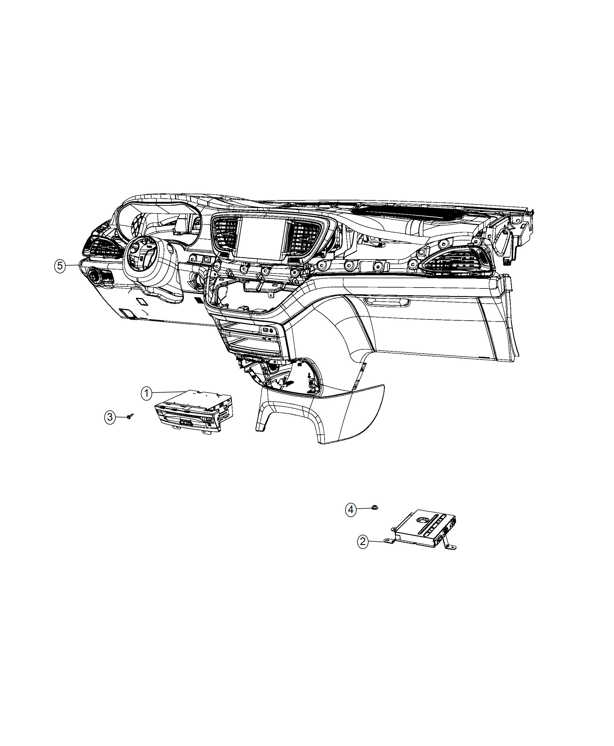 Chrysler Pacifica Module Video Router Seatback Video