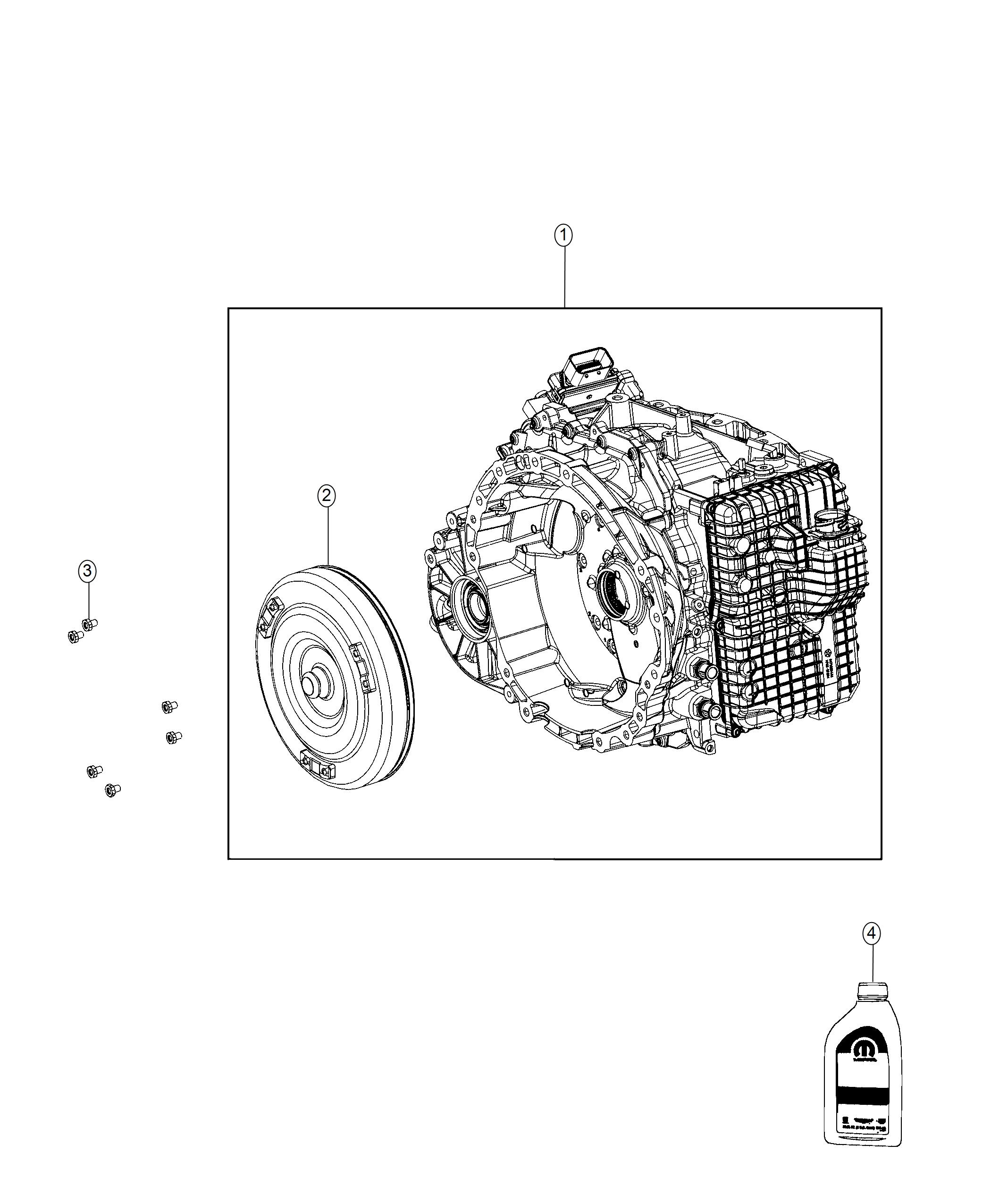 Chrysler Pacifica Transmission With Torque Converter