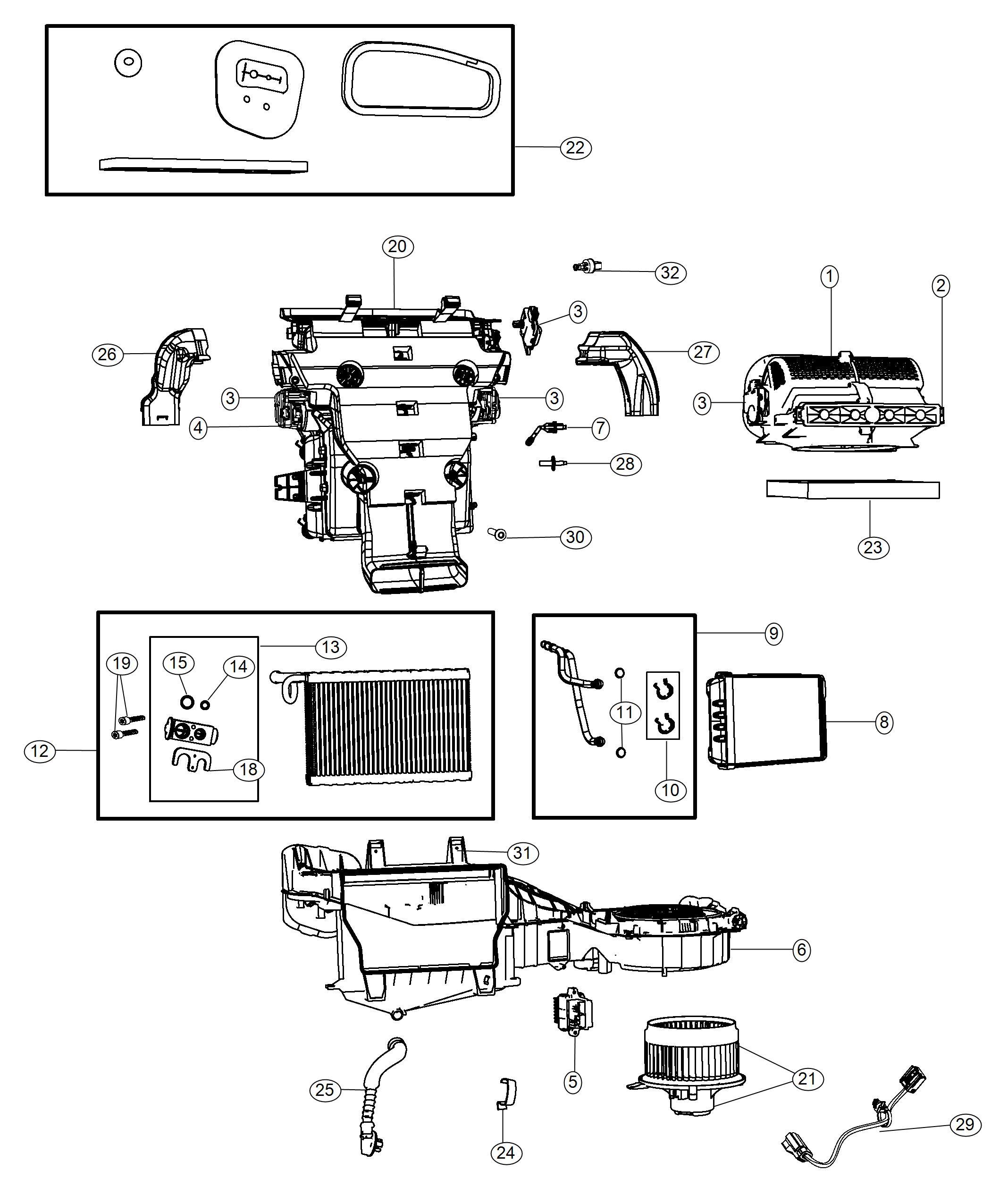 Dodge Durango Motor Blower With Wheel Panel Module