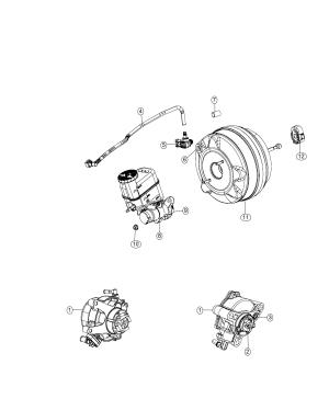 2018 Jeep Cherokee Hose Brake booster vacuum Maintenance  04581560AF | Mopar Parts Inc,