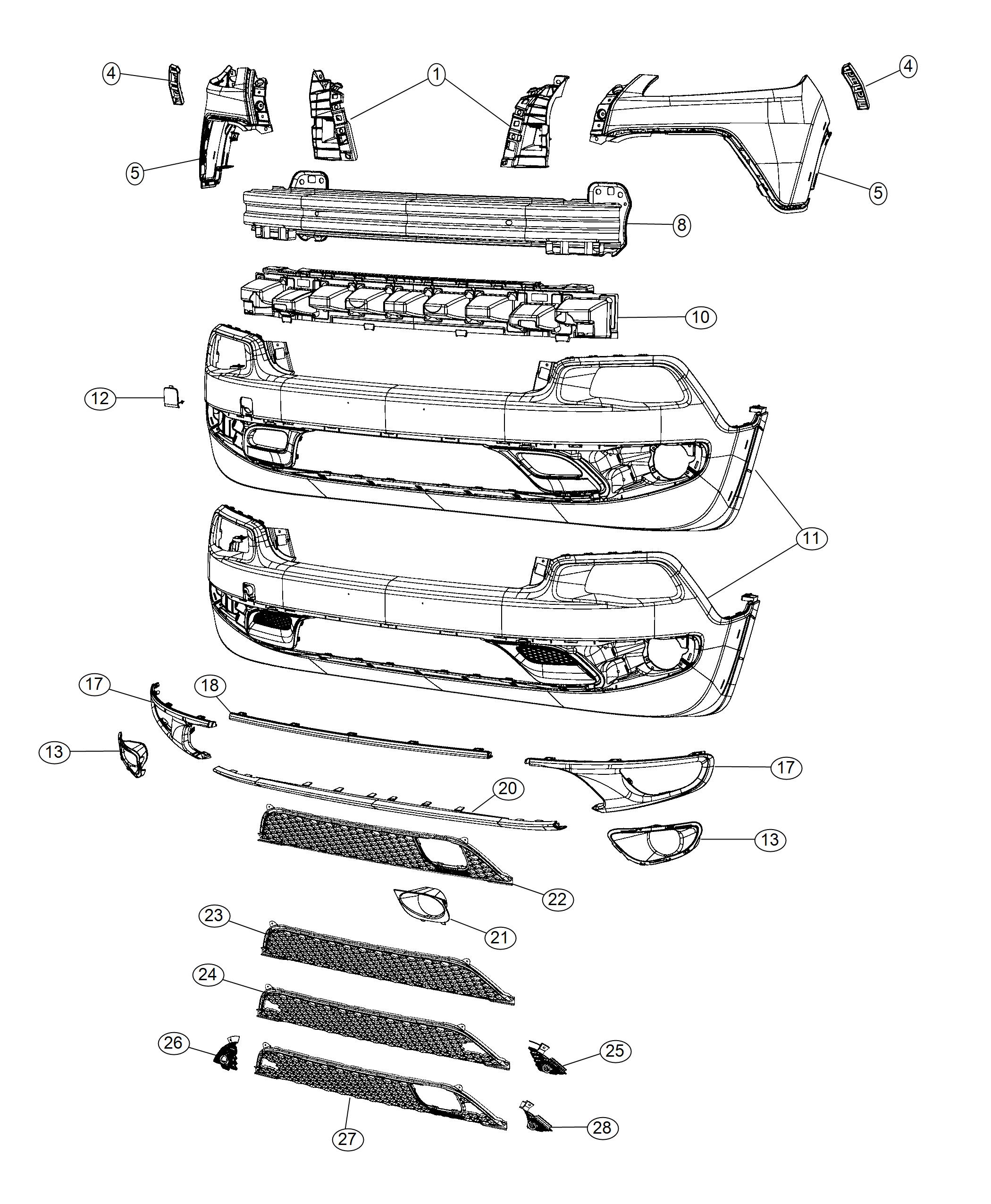 Jeep Cherokee Grille Lower Front Cruise Control