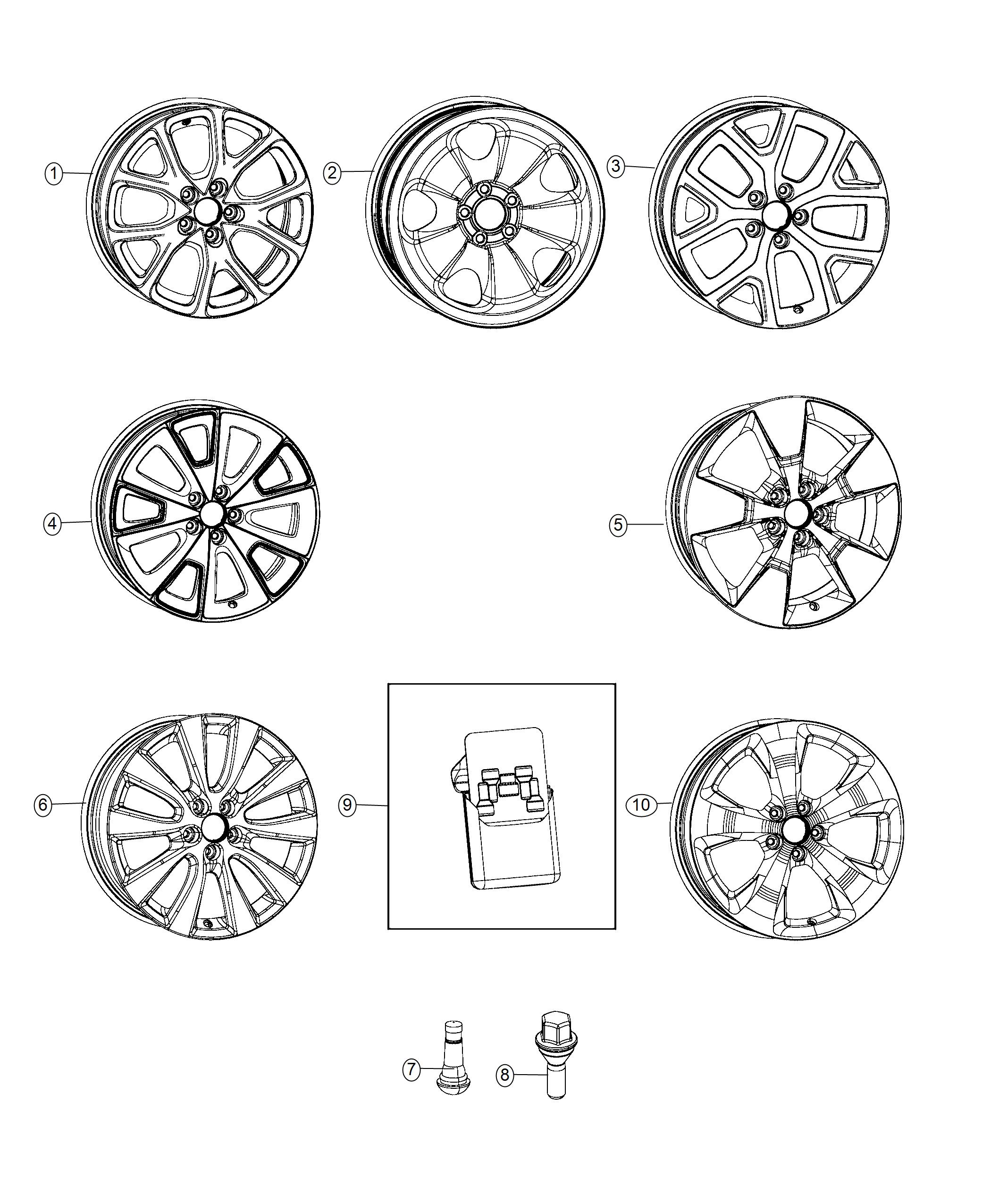 Jeep Cherokee Wheel Aluminum Front Or Rear Color