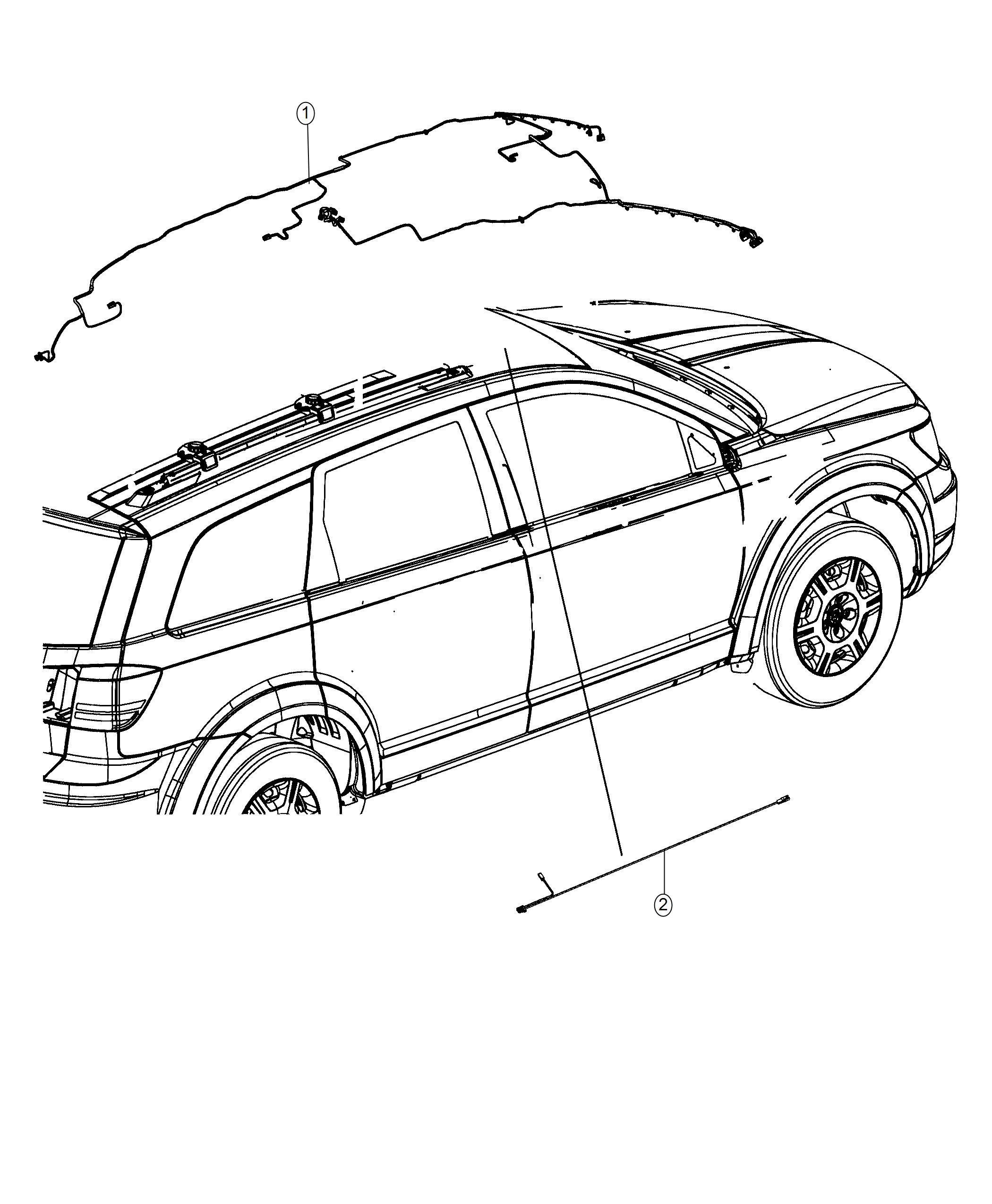 Dodge Journey Wiring Header Rear View Auto Dim Mirror Humidity Sensor