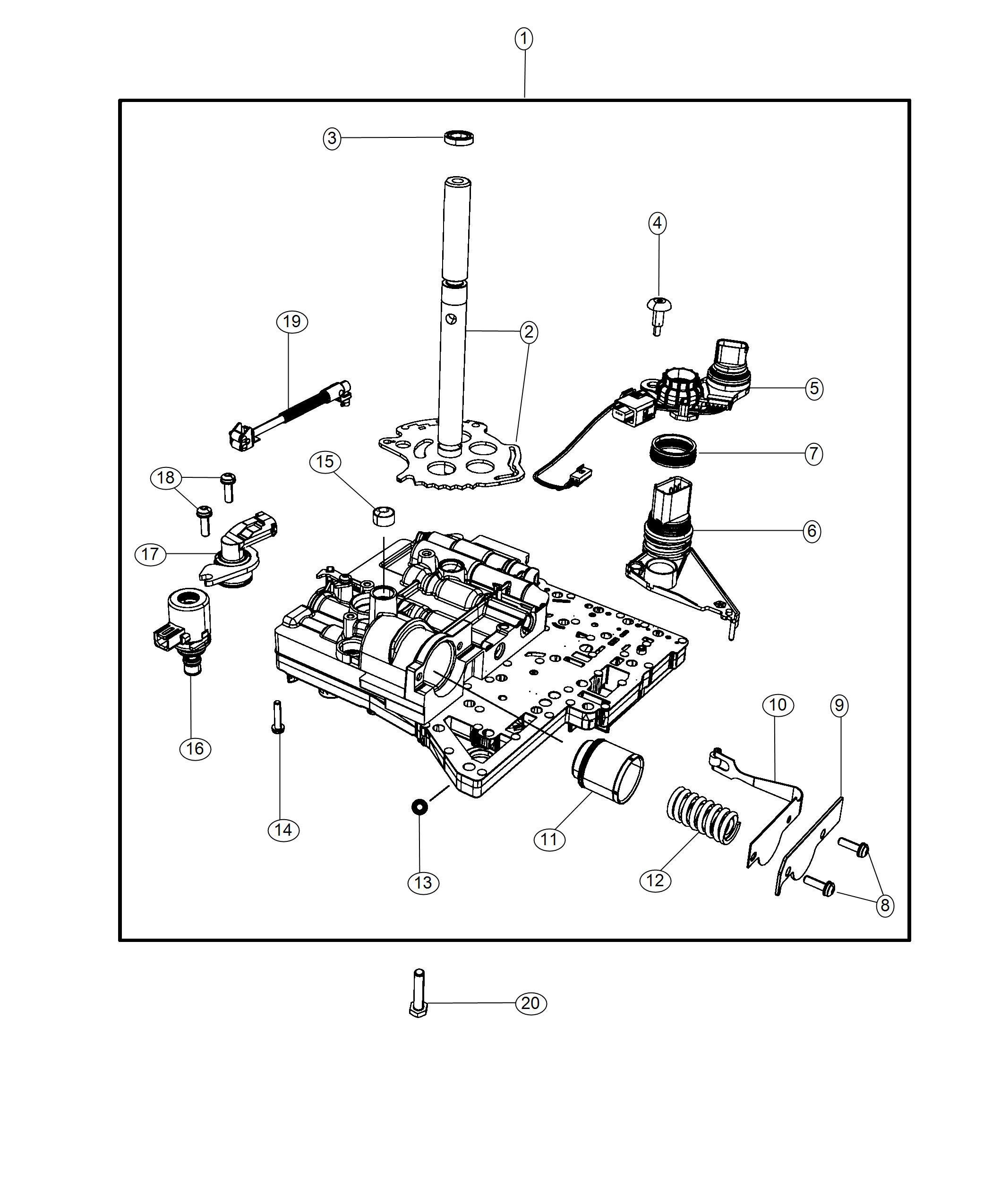 Dodge Journey Valve Body Kit Transmission Domestic Usa