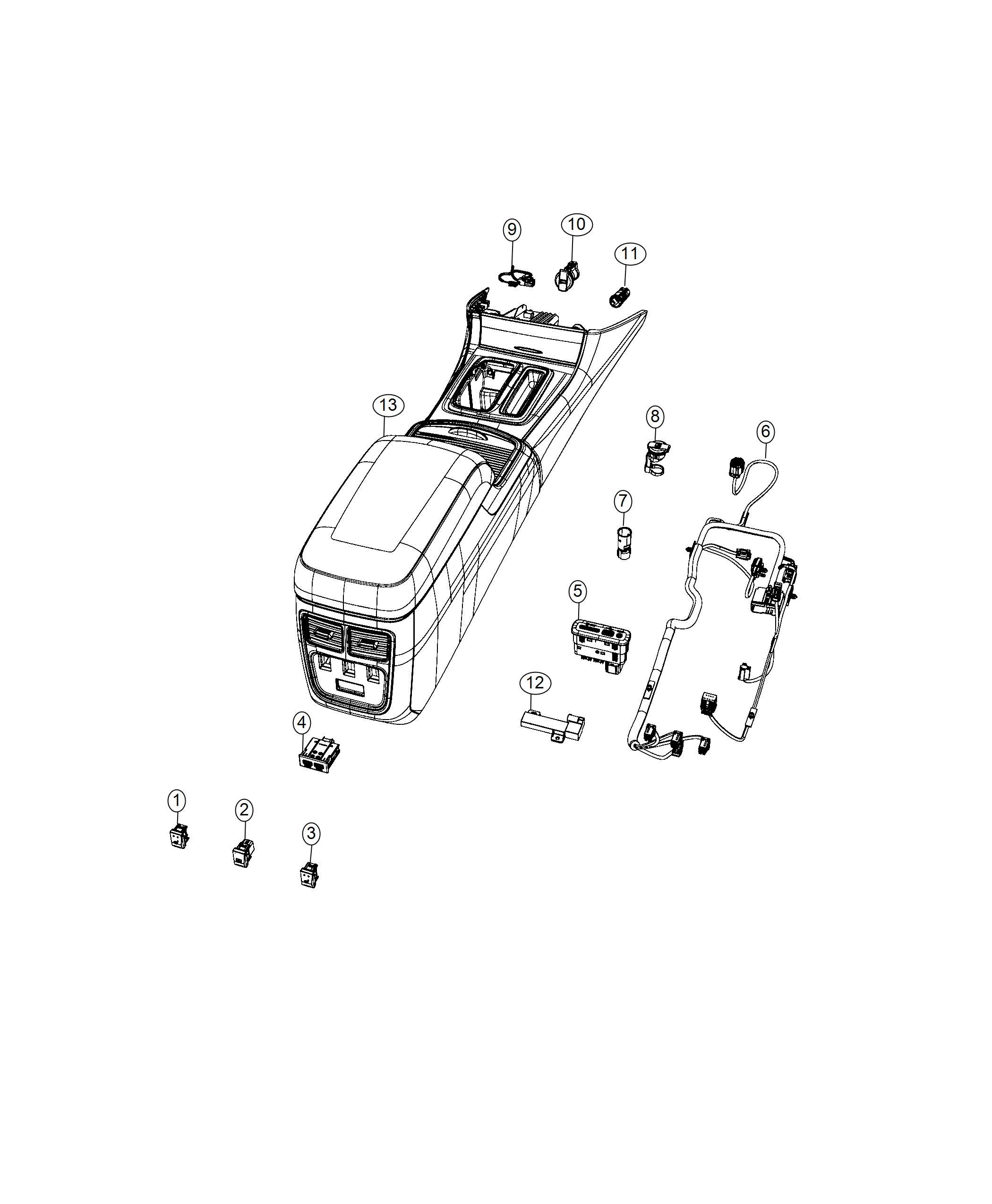 Chrysler 300 Wiring Console Trim No Description