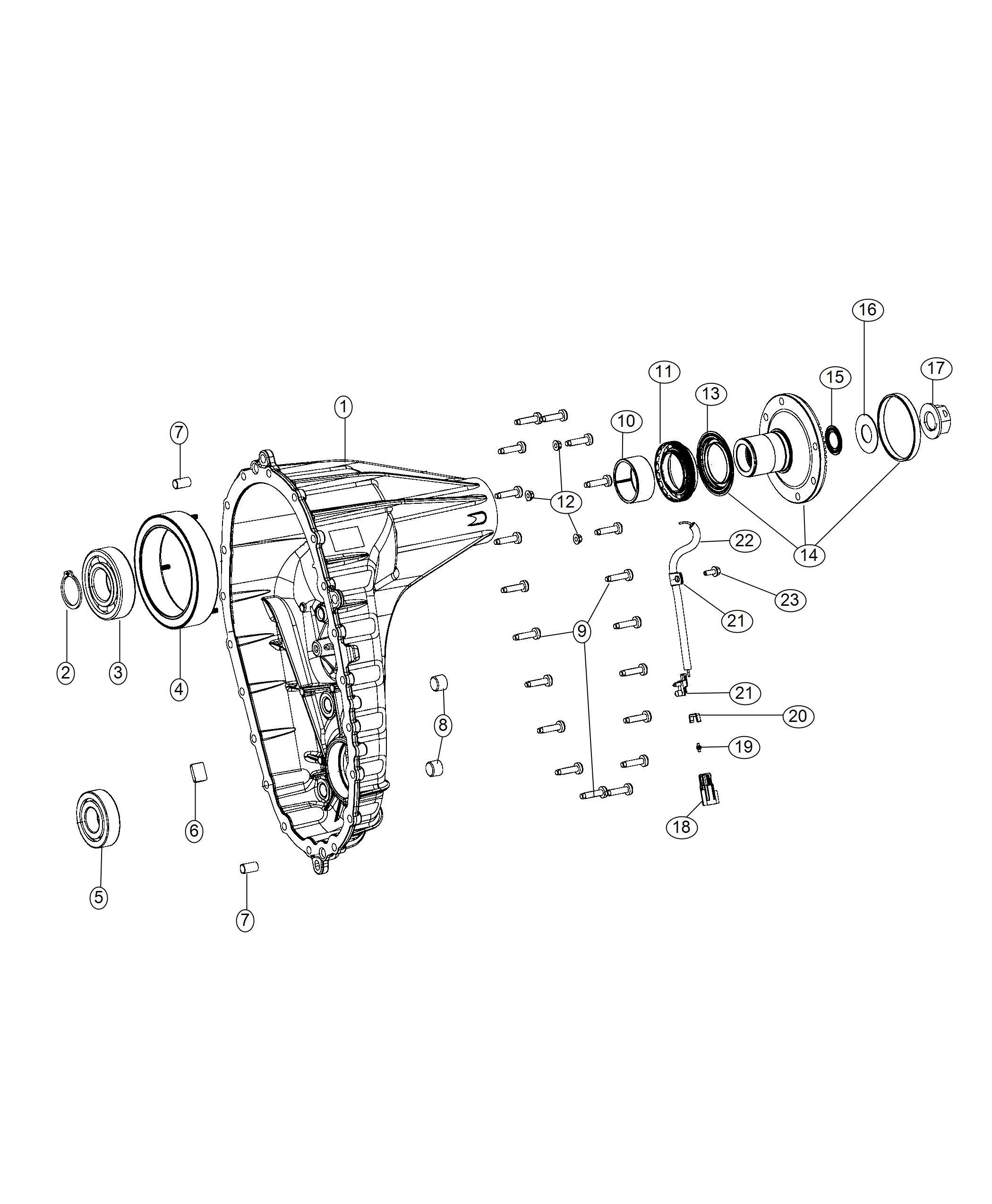 Ram Case Half Rear Transfer Fly Shift