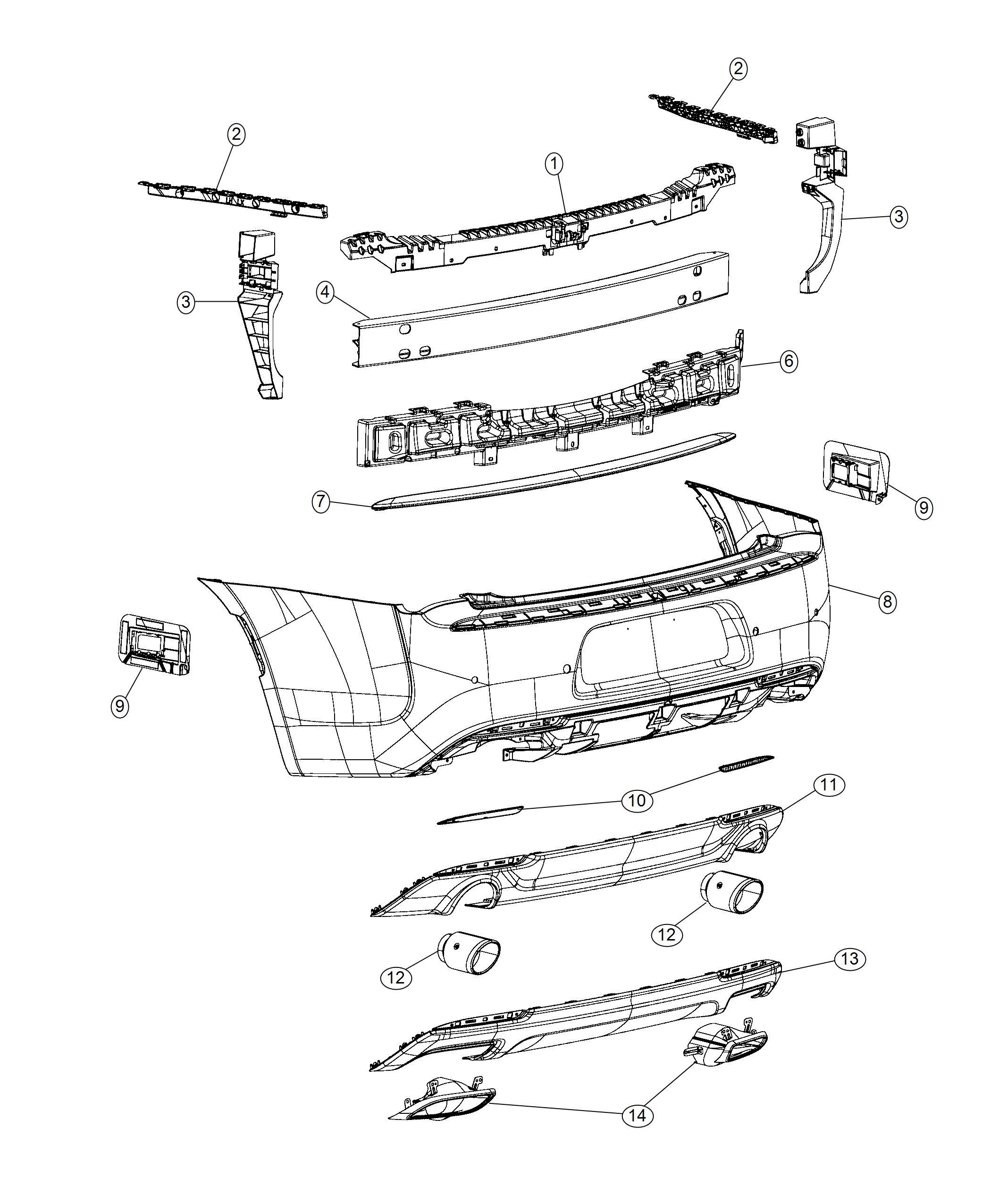 Chrysler 300 Reinforcement Rear Bumper