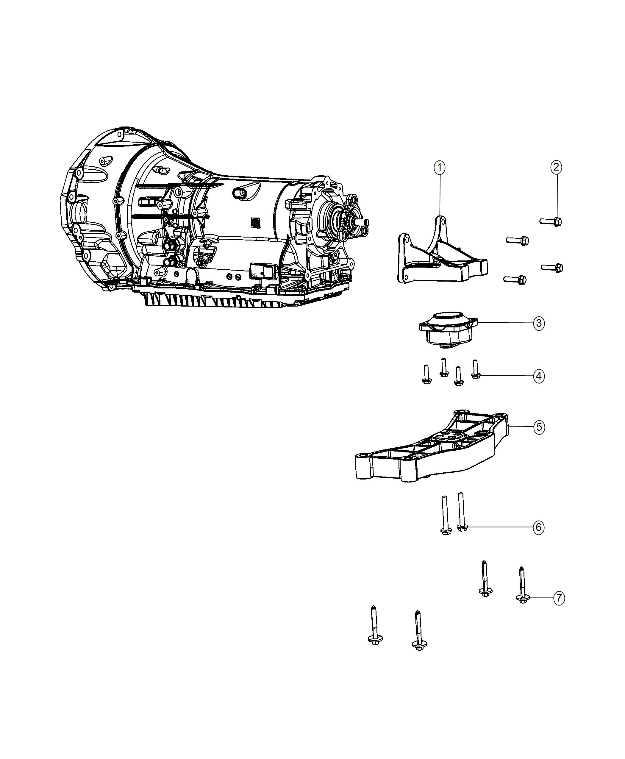 Dodge Charger Crossmember Transmission