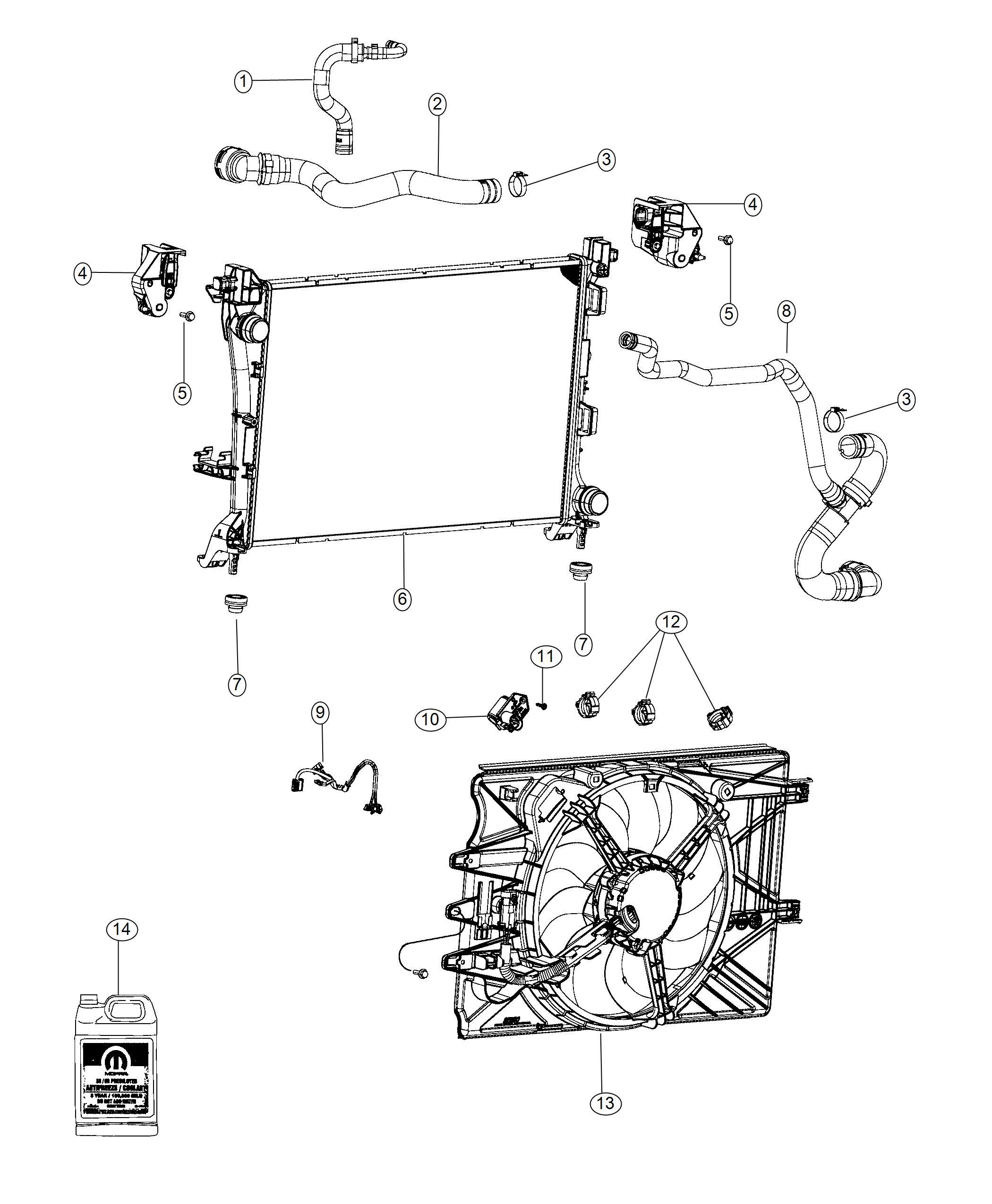 Fiat 500l Radiator Engine Cooling Maintenance
