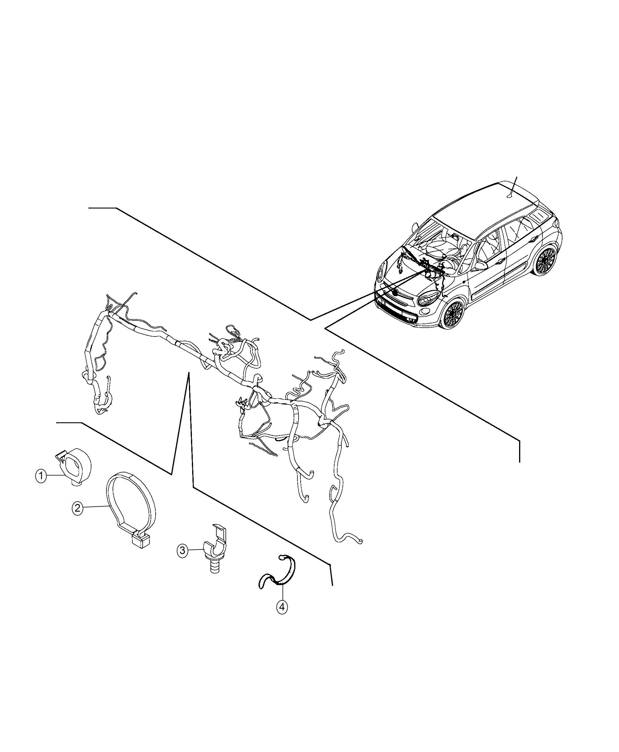Fiat 500l Strap Tie Band Accessory Envelope