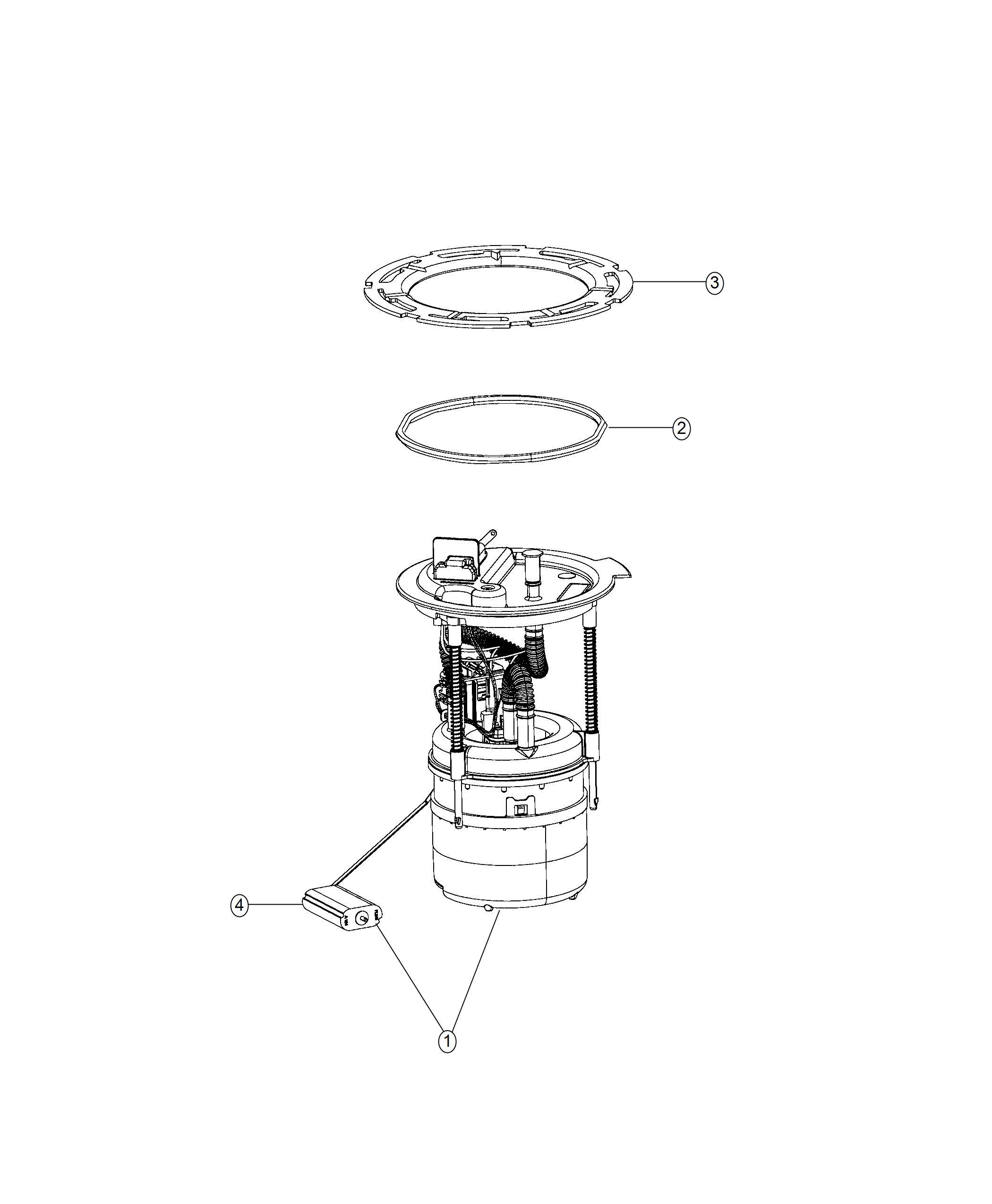 Jeep Compass Module Kit Fuel Pump Level Unit 13 8