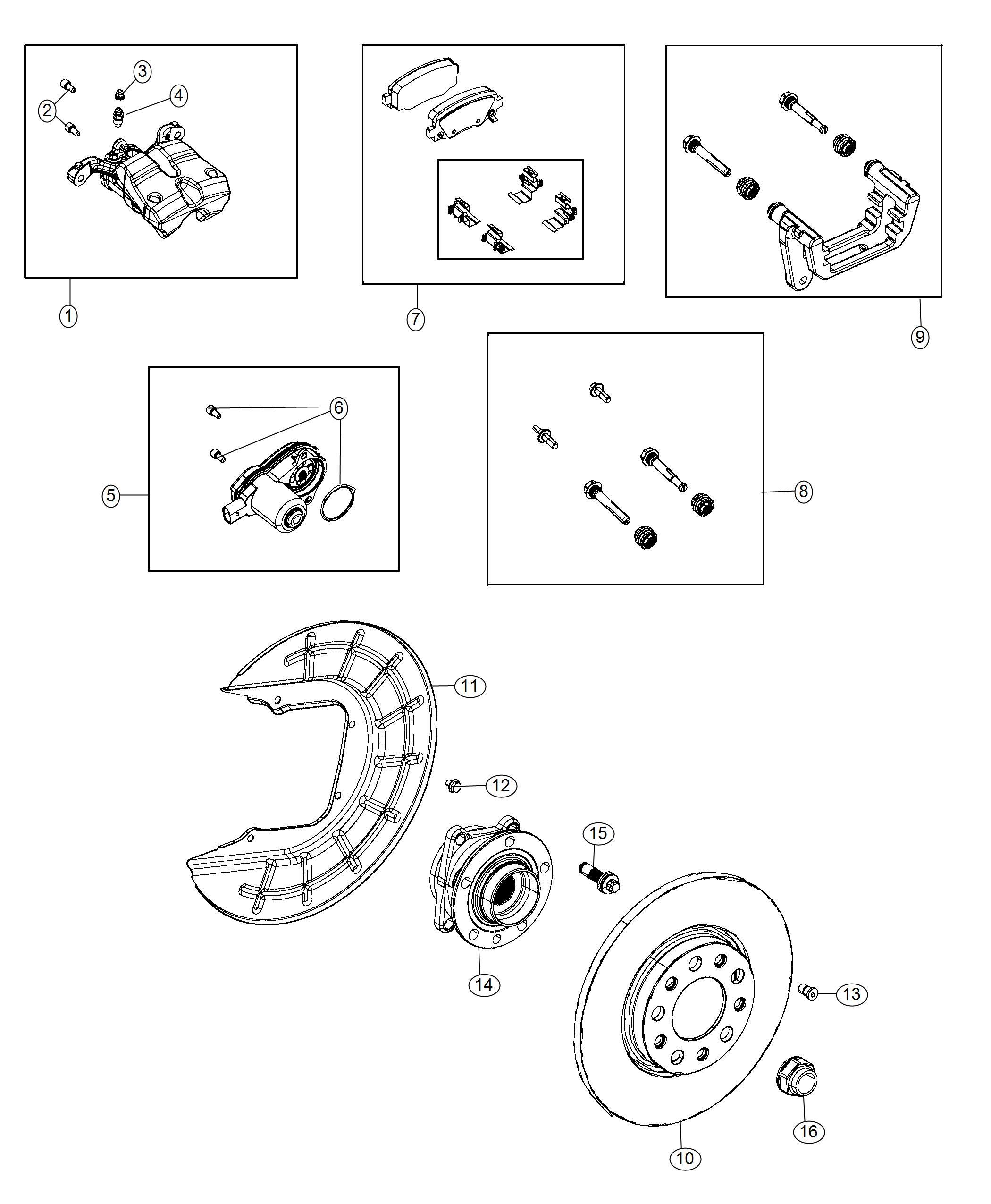 Jeep Renegade Adapter Disc Brake Caliper Rear