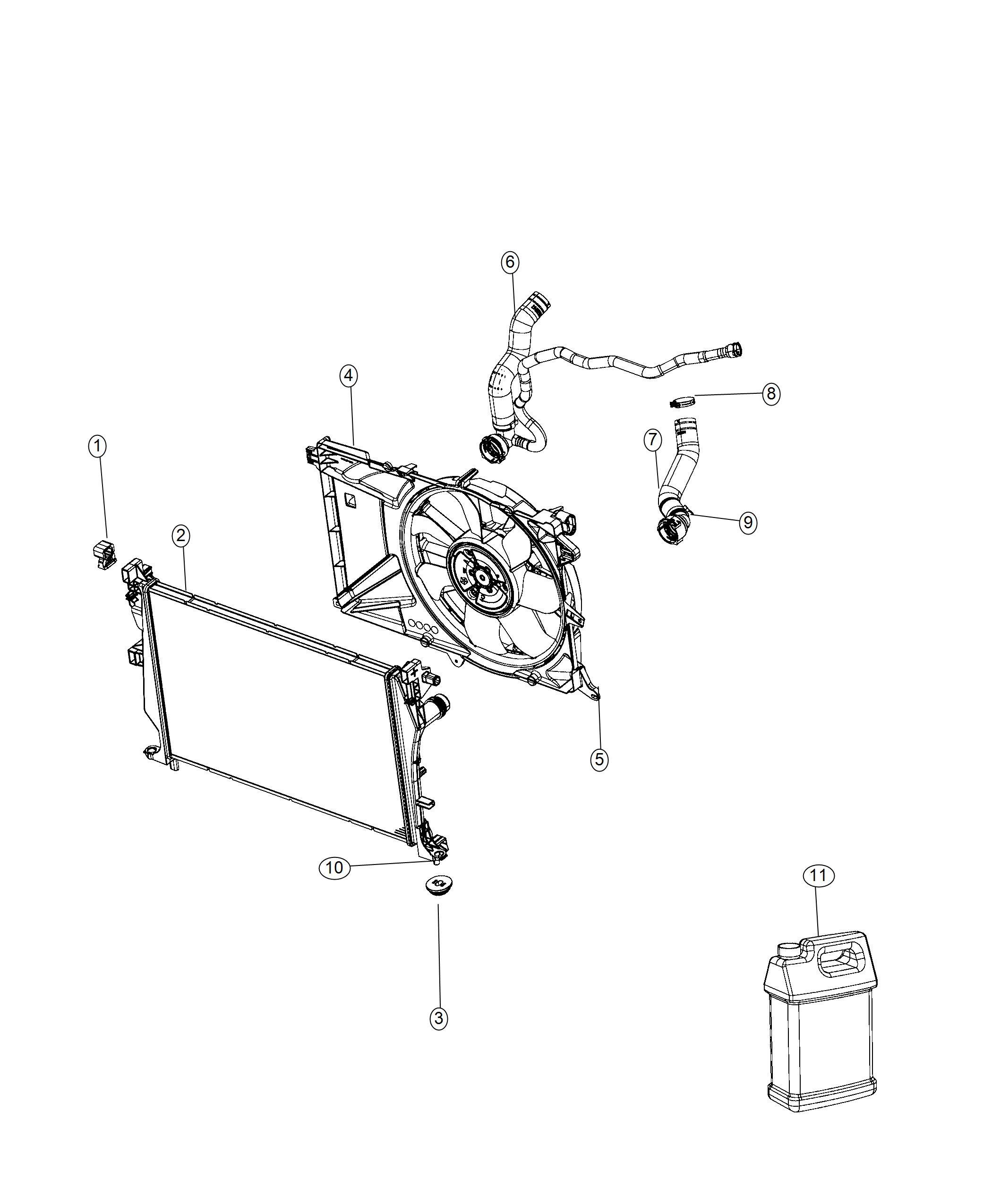 Jeep Renegade Fan Module Radiator Cooling Related
