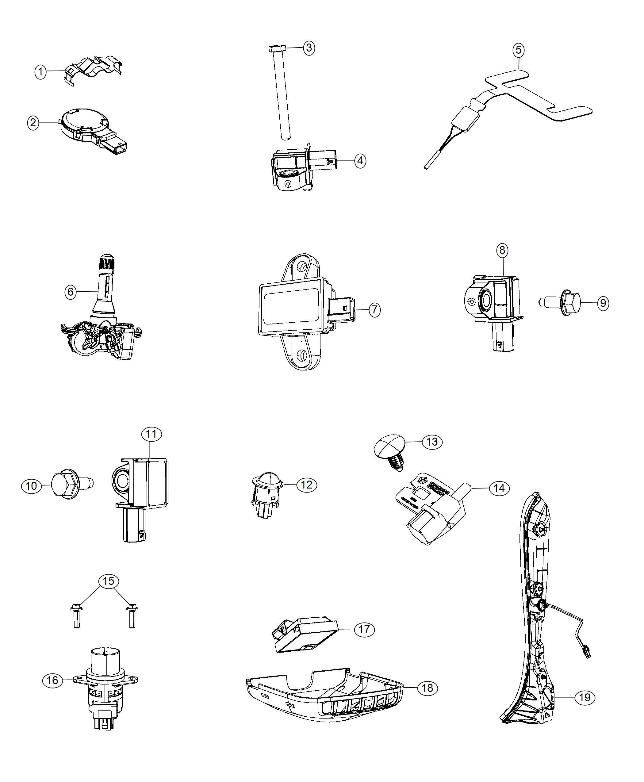 Jeep Renegade Sensor Acceleration Air Side Bags