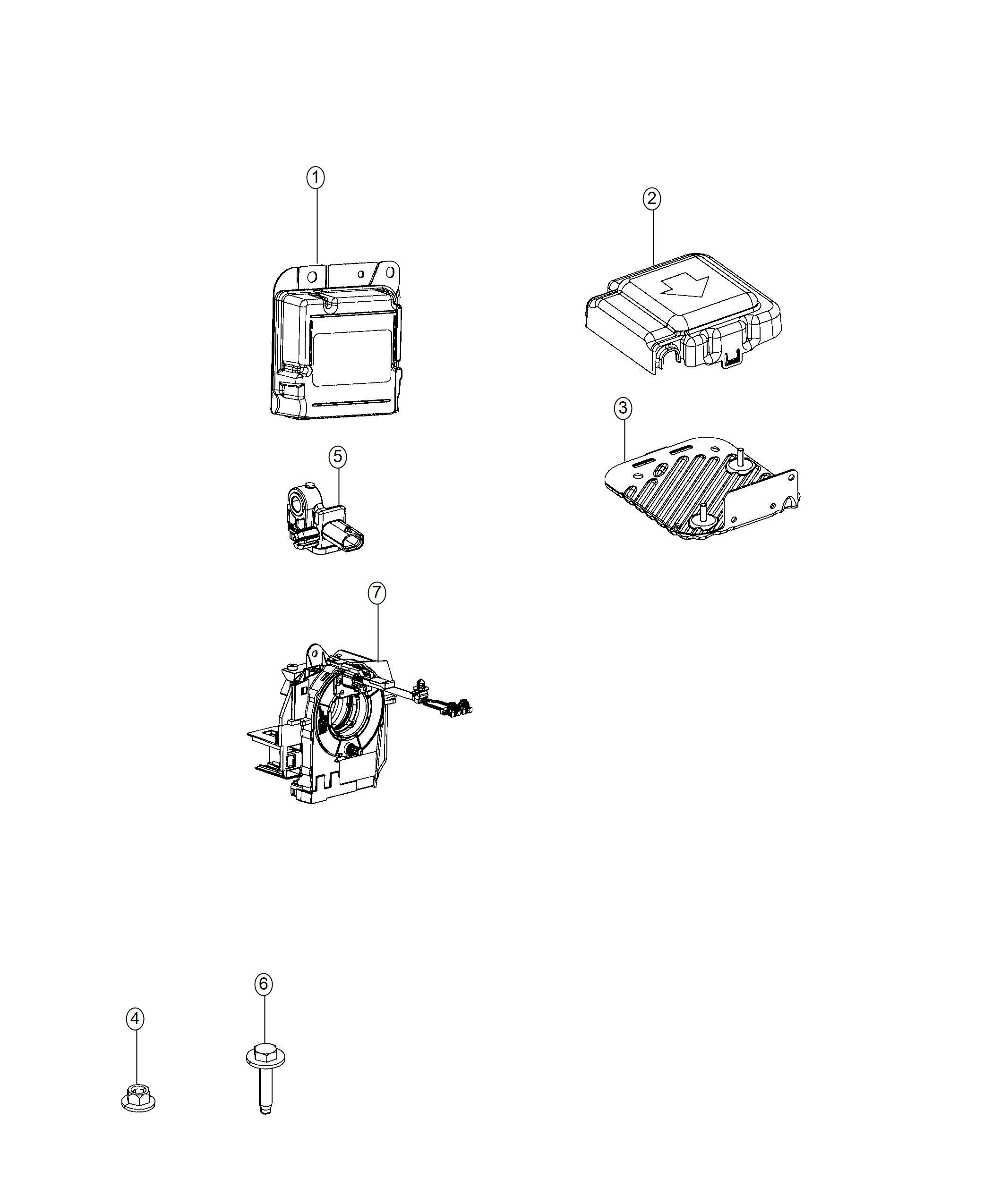 Ram Clockspring Steering Column Control Module