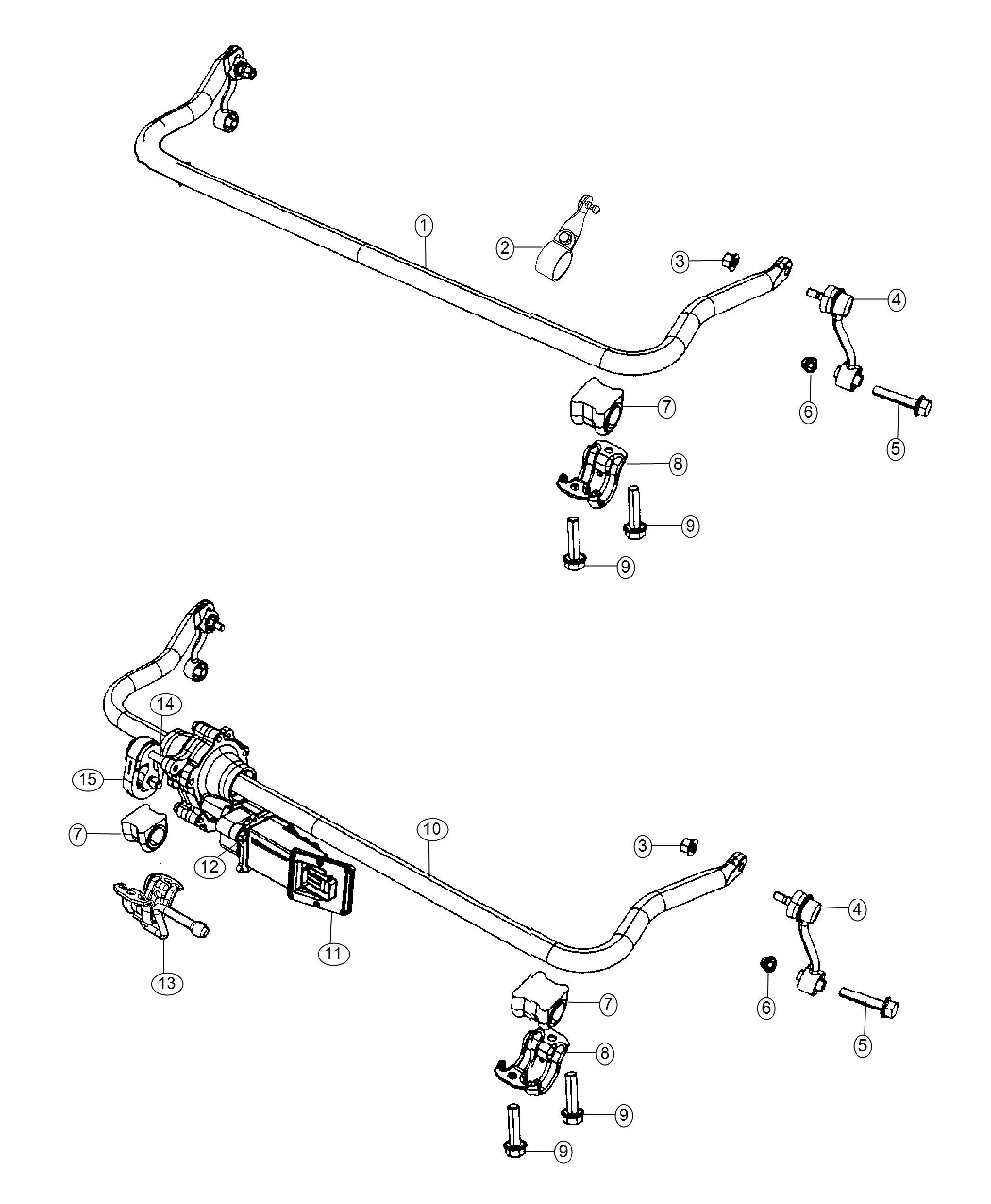 Jeep Wrangler Bracket Front Stabilizer Bar Automatic