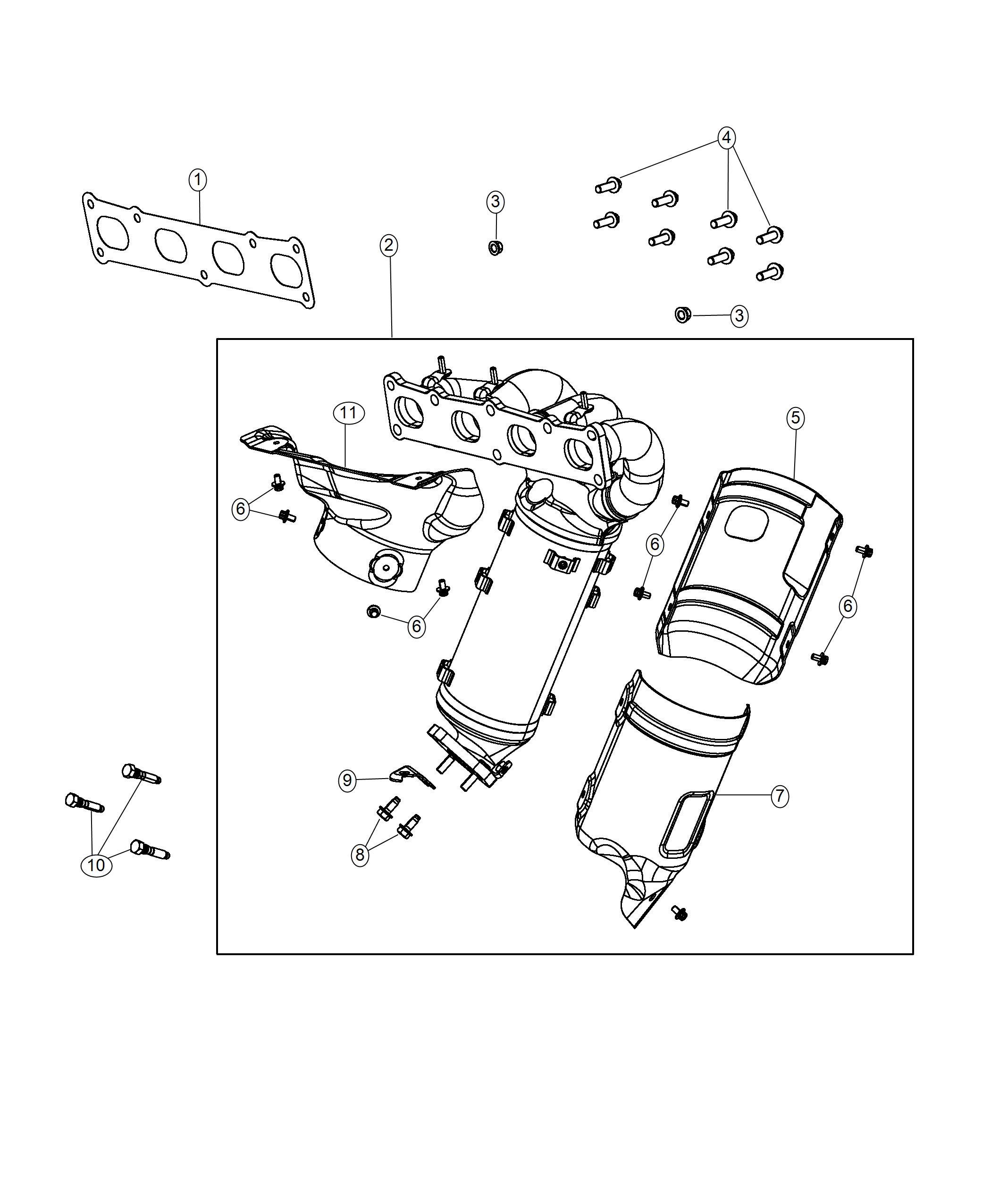 Jeep Compass Bracket Catalytic Converter Awd Single