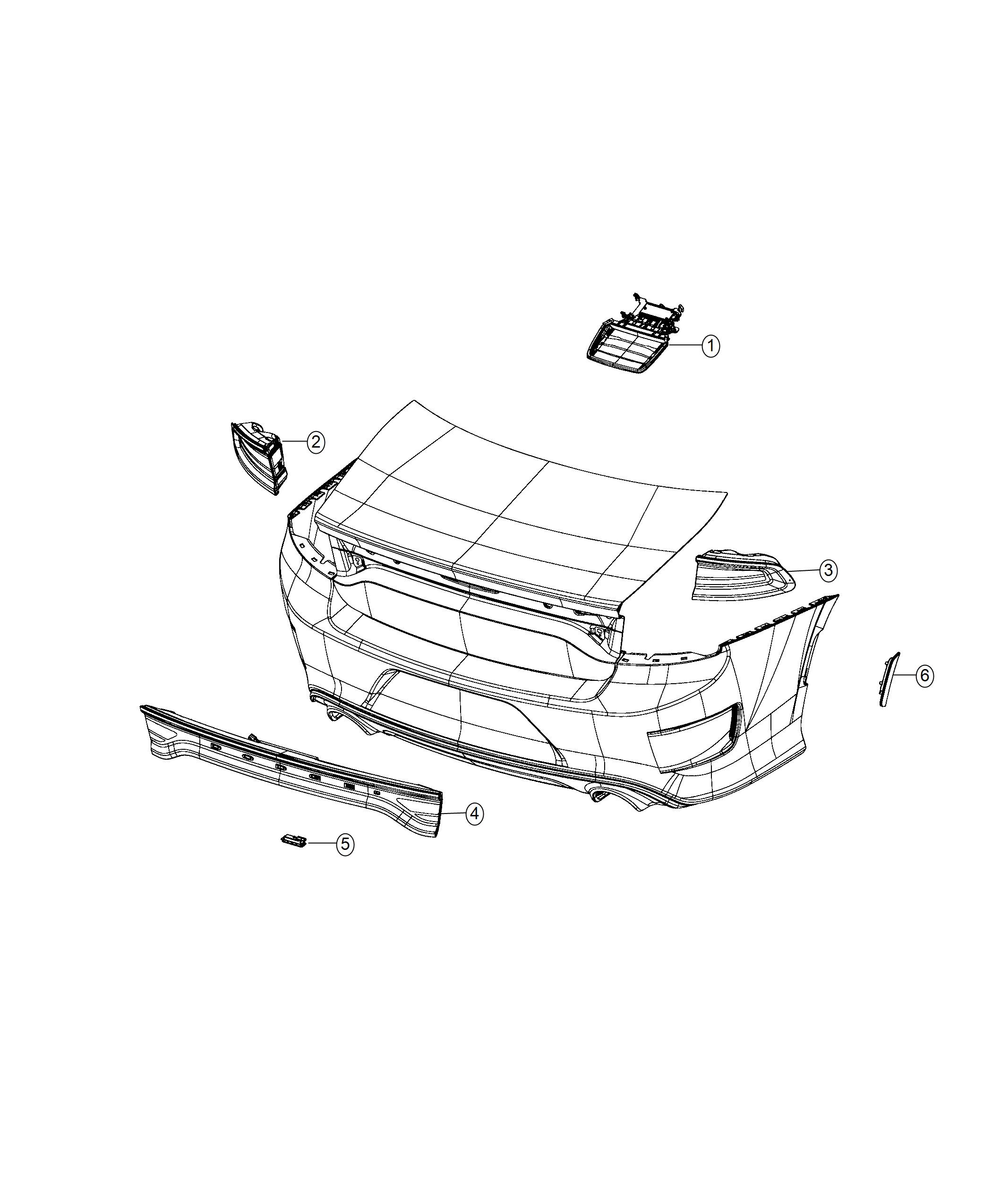 Dodge Charger Lamp Side Marker Left Rear Fascias Parts Module