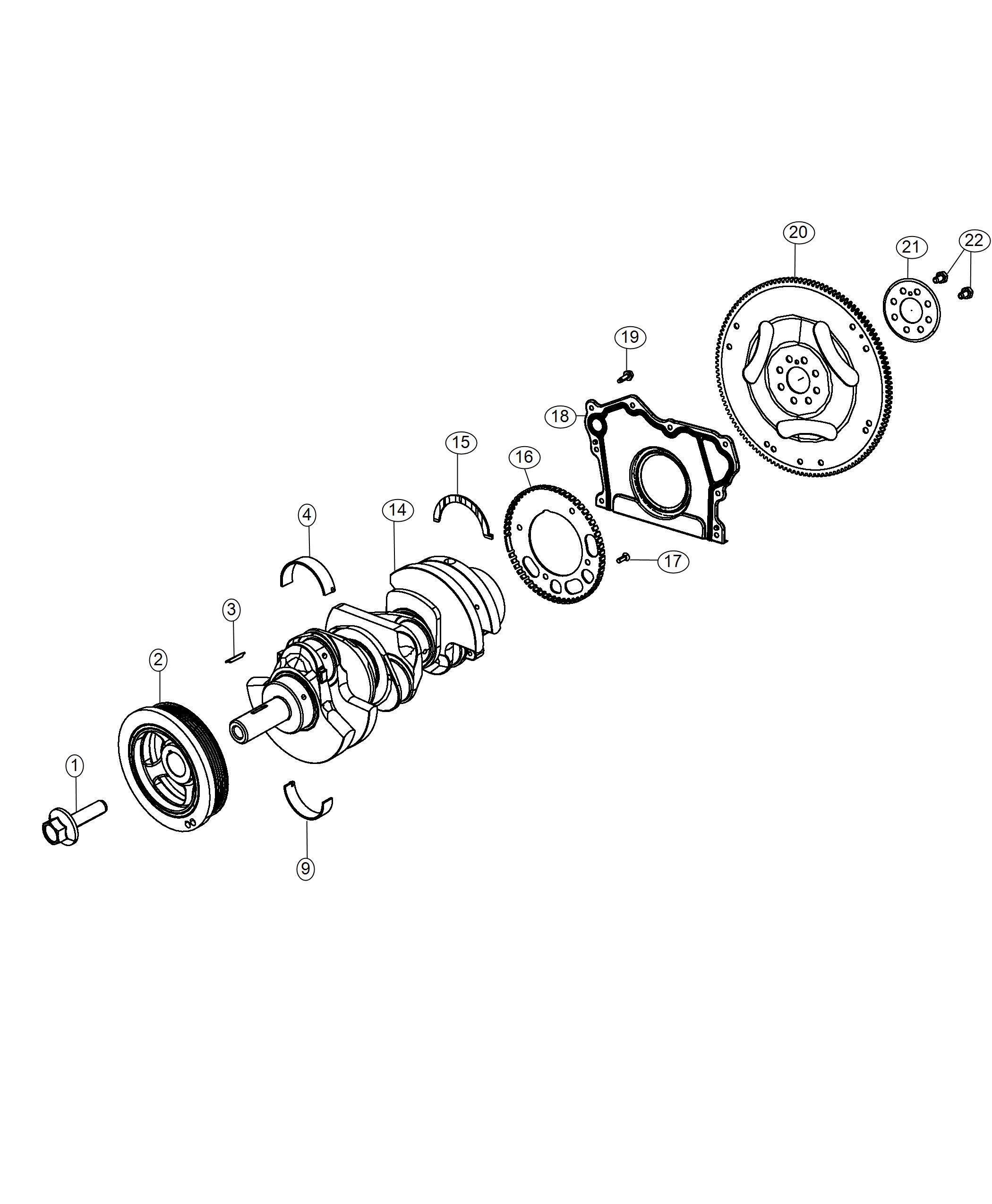Chrysler 300 Crankshaft Bearings Damper Flywheel