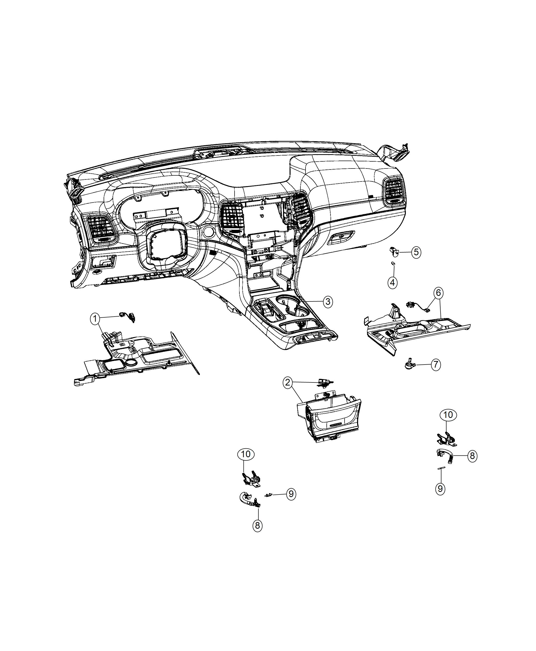 Jeep Grand Cherokee Panel Instrument Panel Closeout